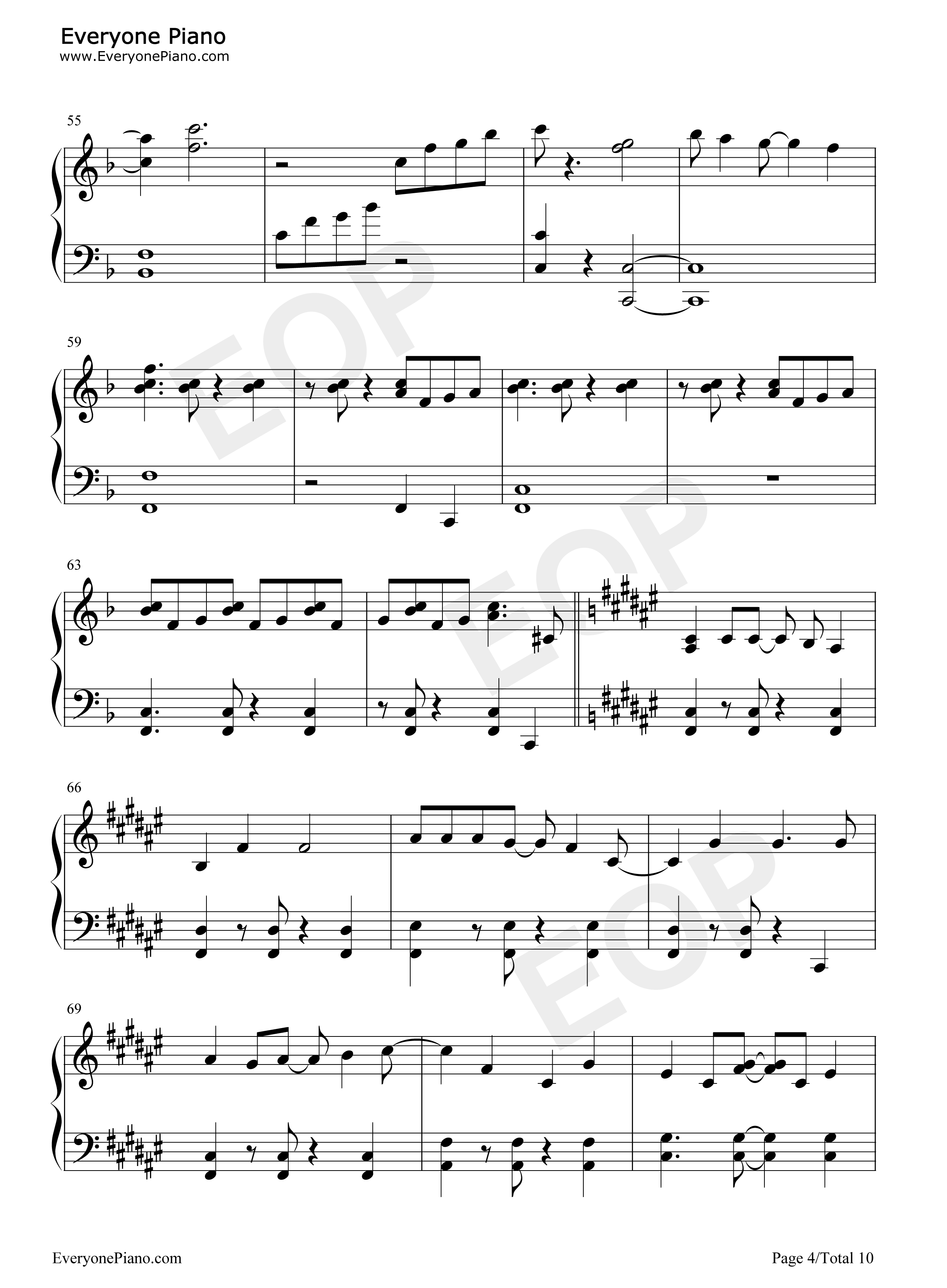 forever-冰雪奇缘插曲五线谱