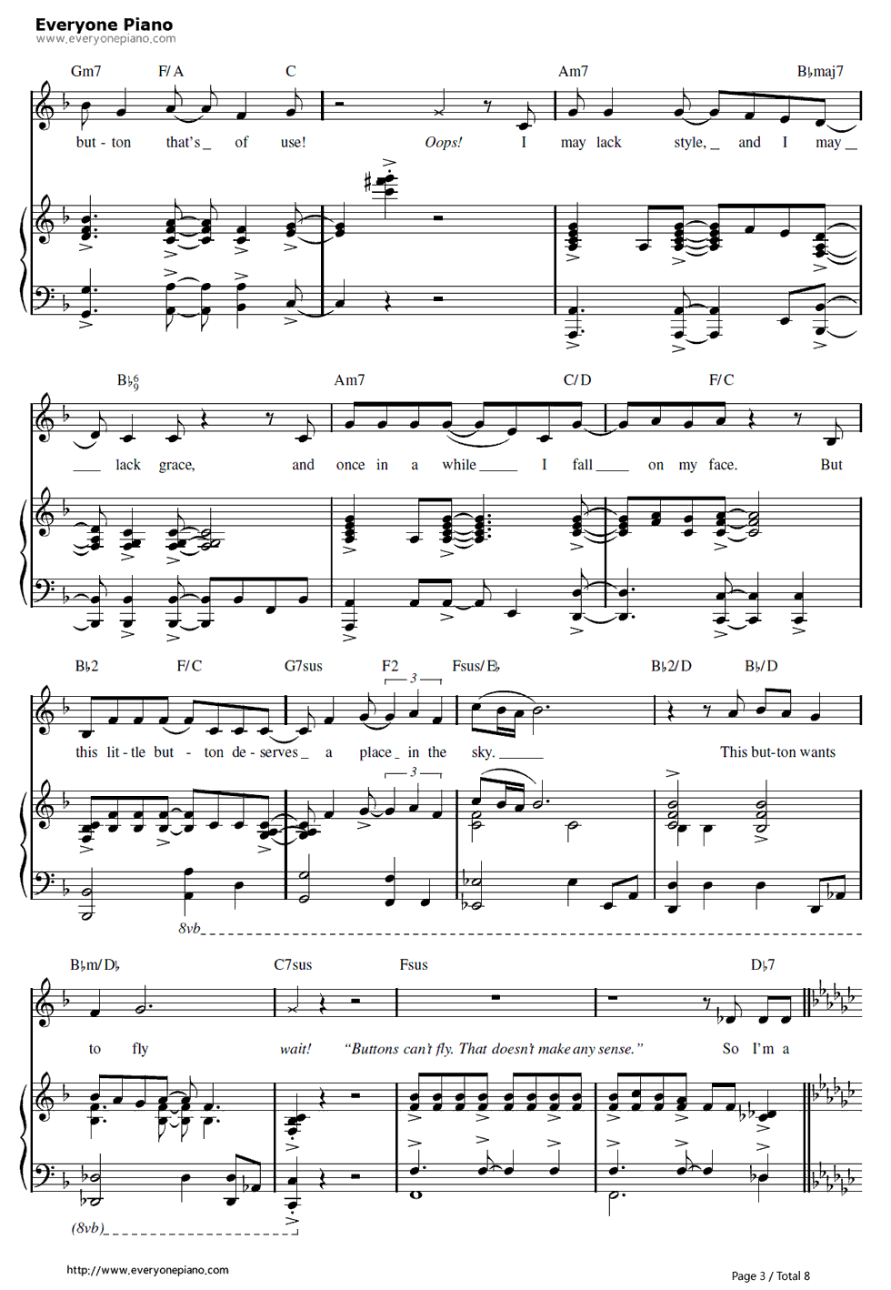 钢琴曲谱 动漫 more than