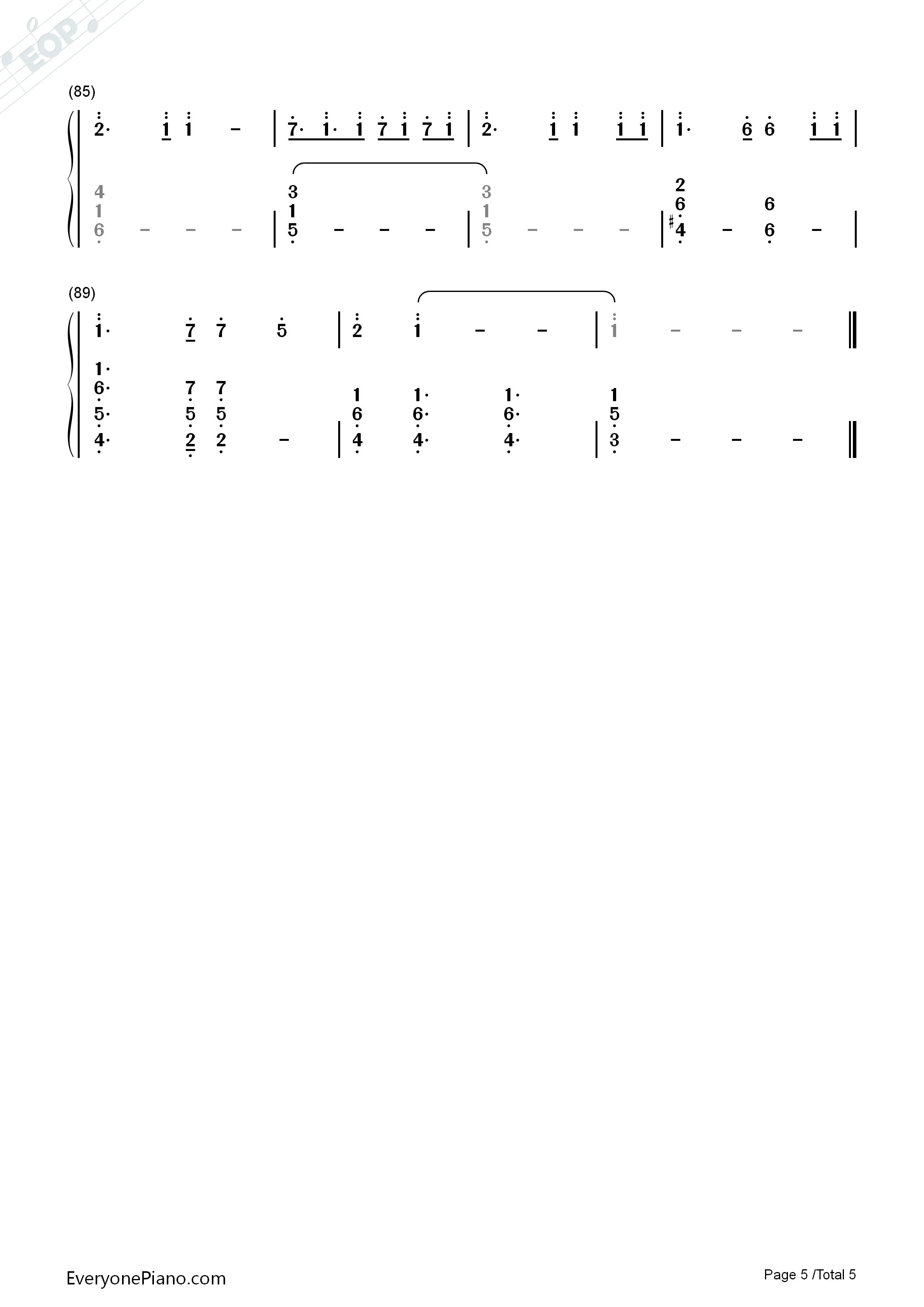 钢琴曲谱 动漫 dream×dream-名侦探柯南剧场版第8弹银翼的魔术师主题