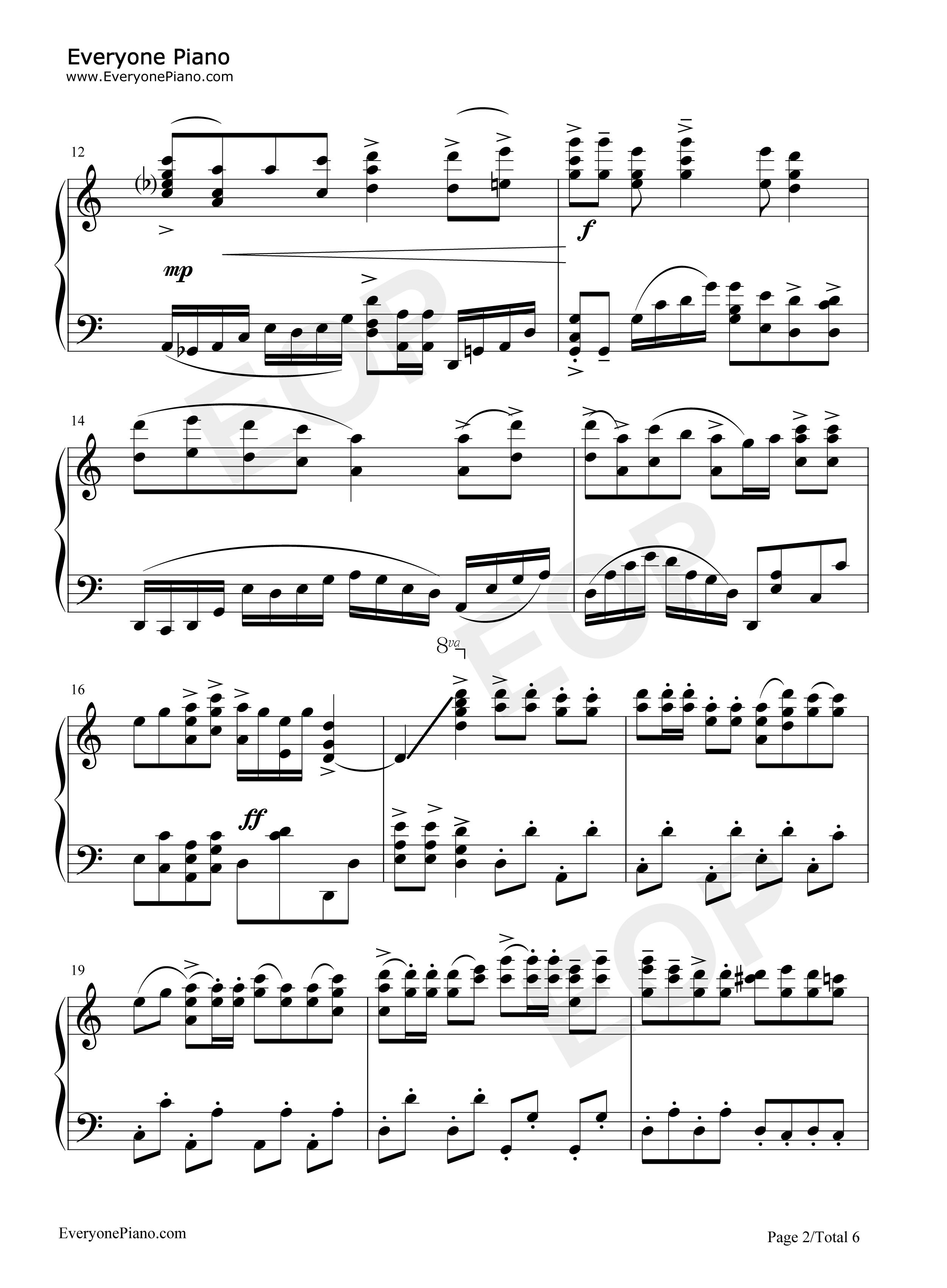 金蛇狂舞-聂耳五线谱预览2-钢琴谱(五线谱,双手简谱)