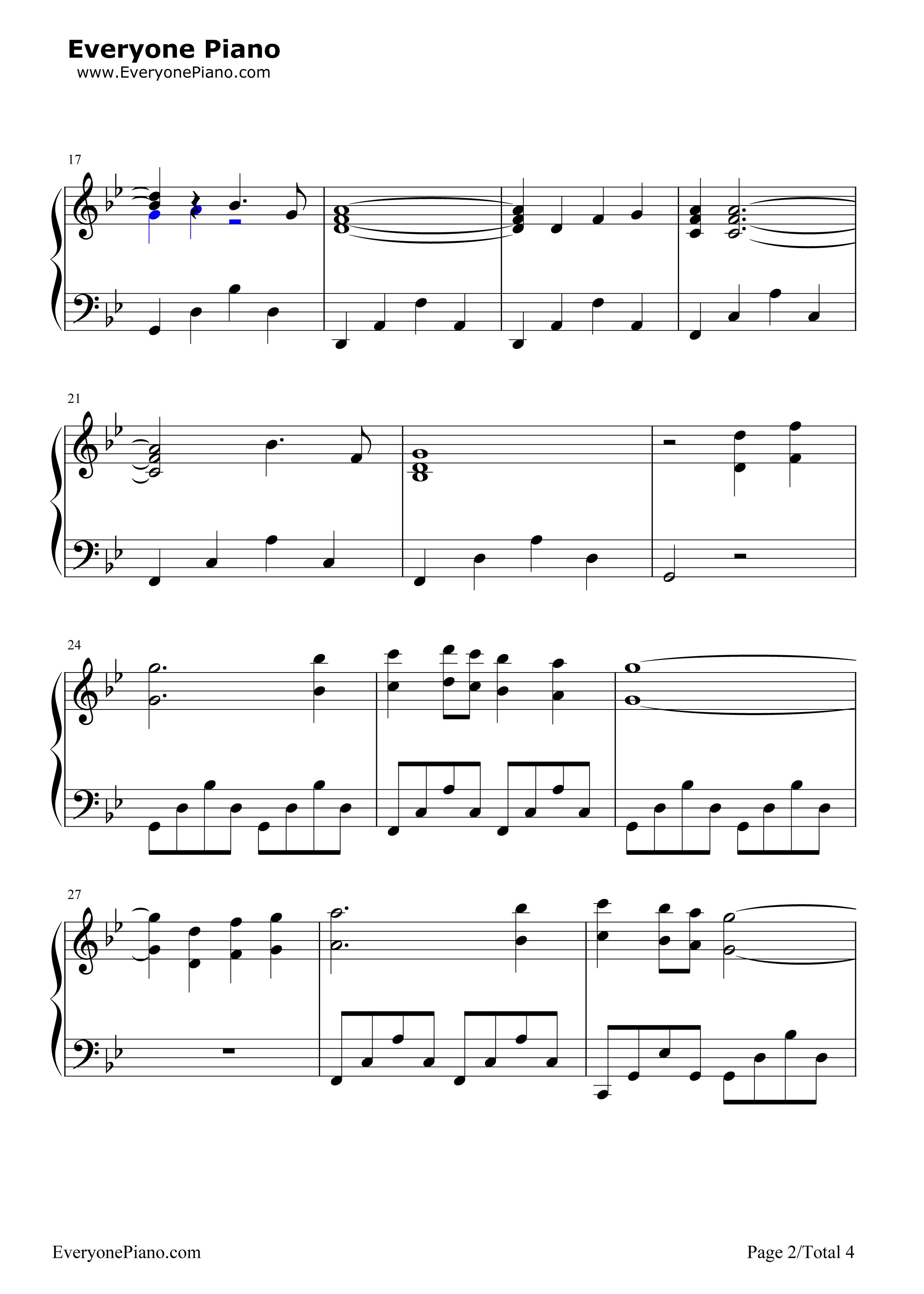 钢琴曲谱 流行 misty mountains