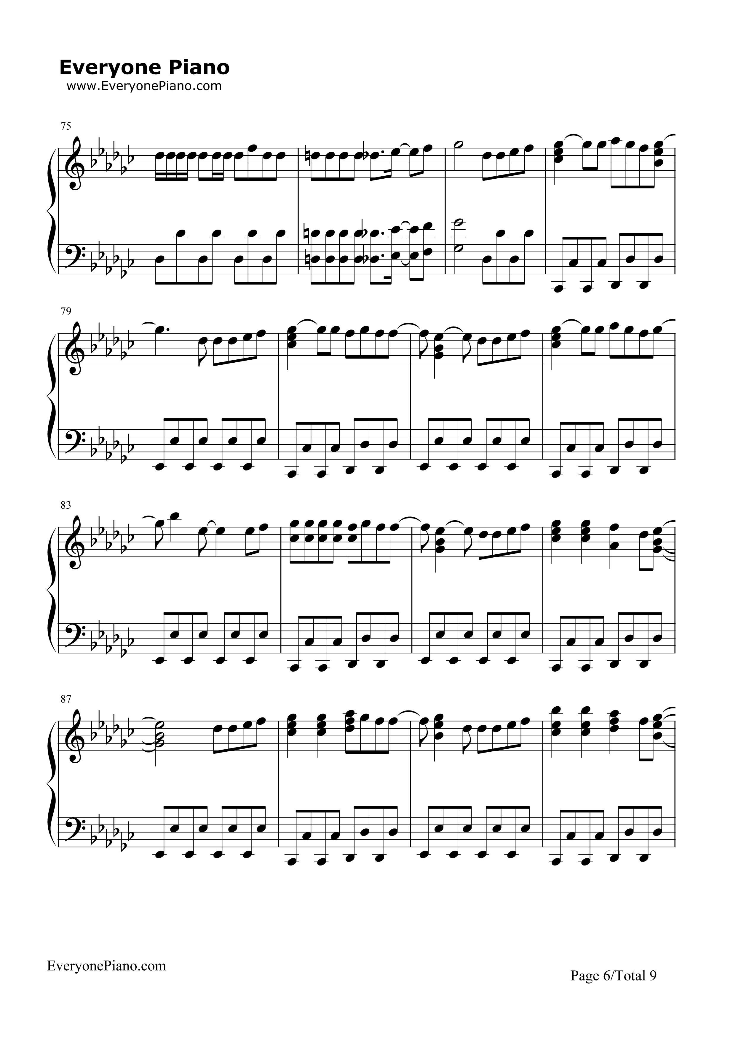 bigbang钢琴简谱数字