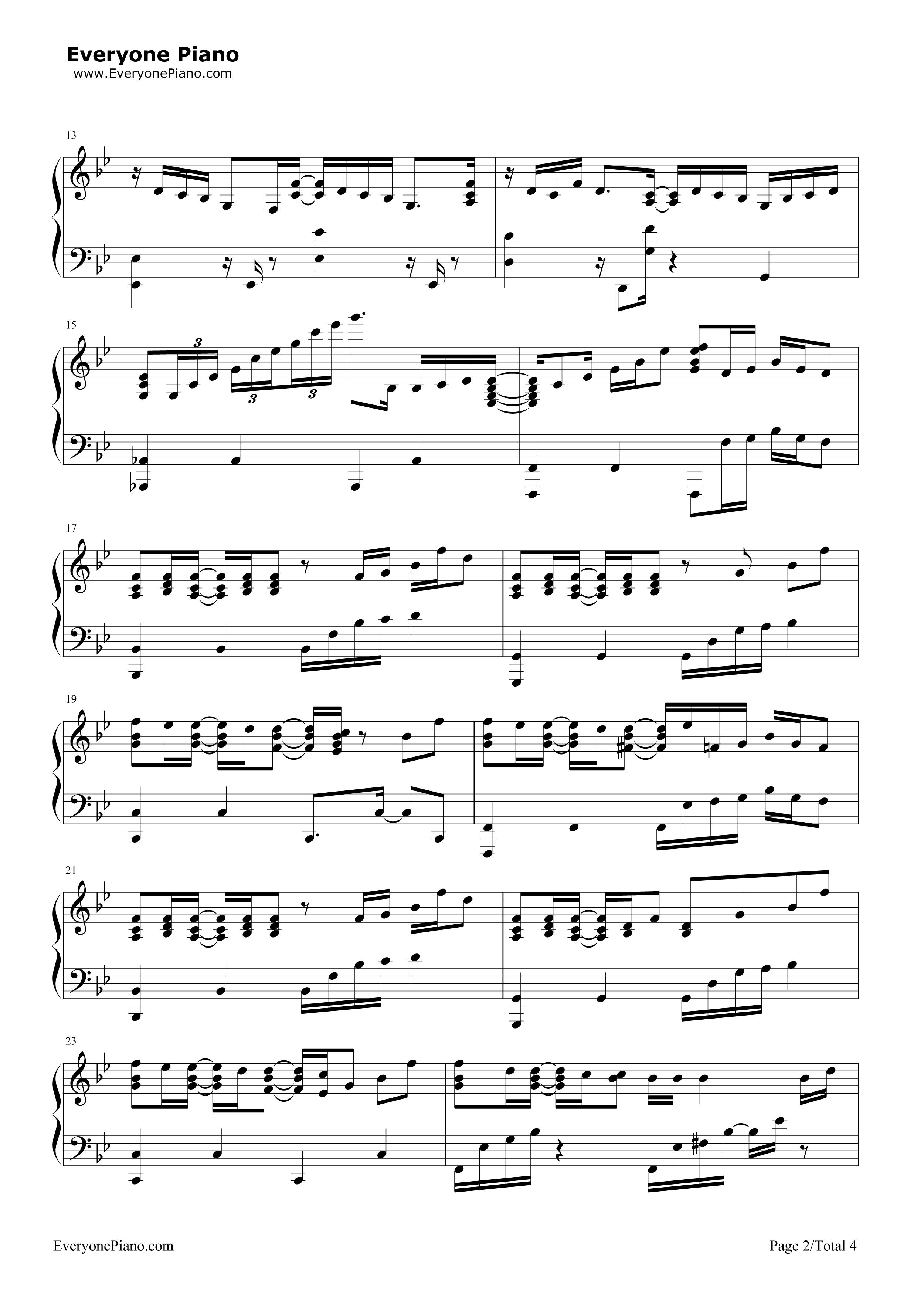 exo歌曲钢琴谱