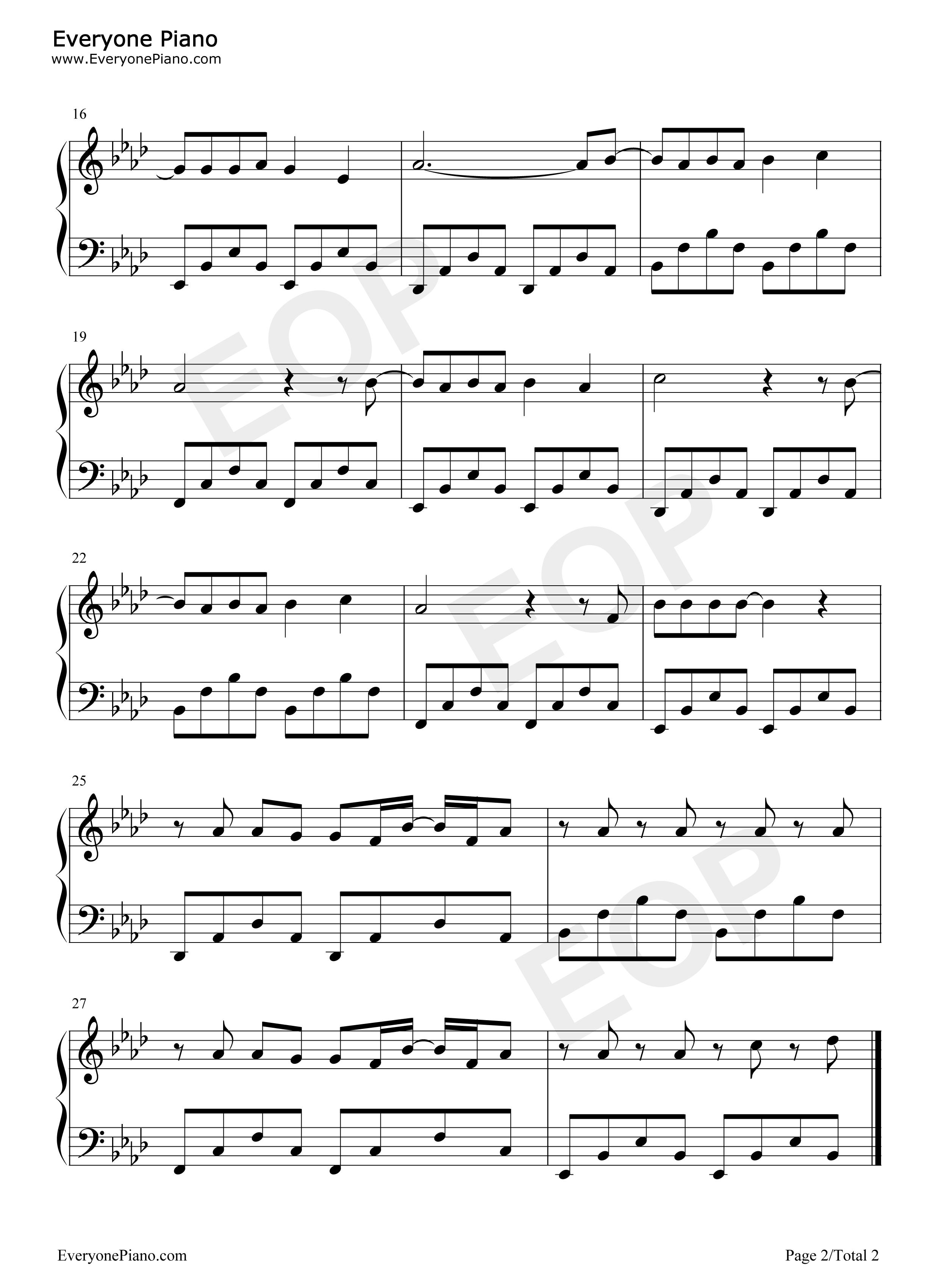 钢琴曲谱 流行 under control-calvin harris and alesso under contr
