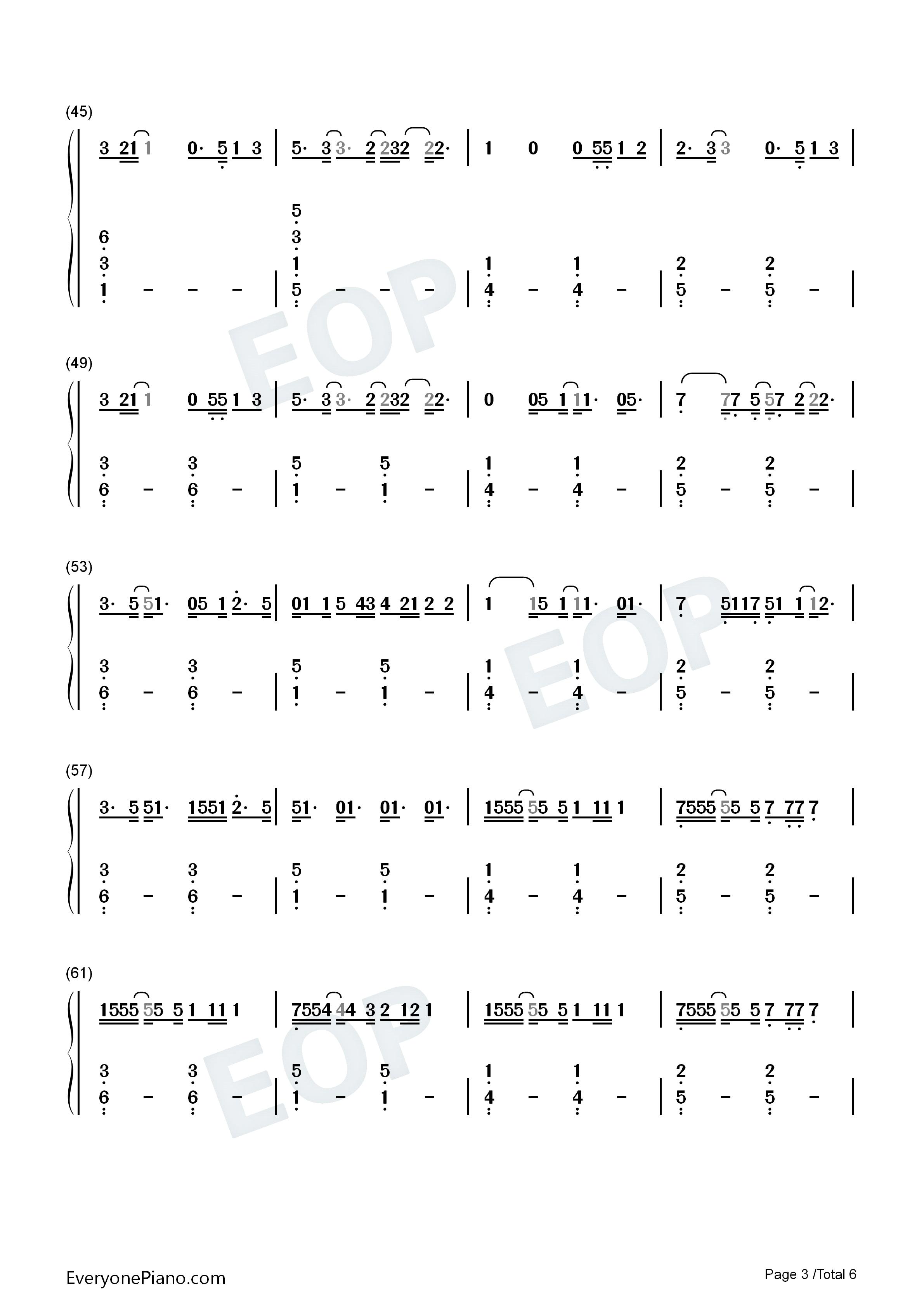 forever-haim双手简谱预览
