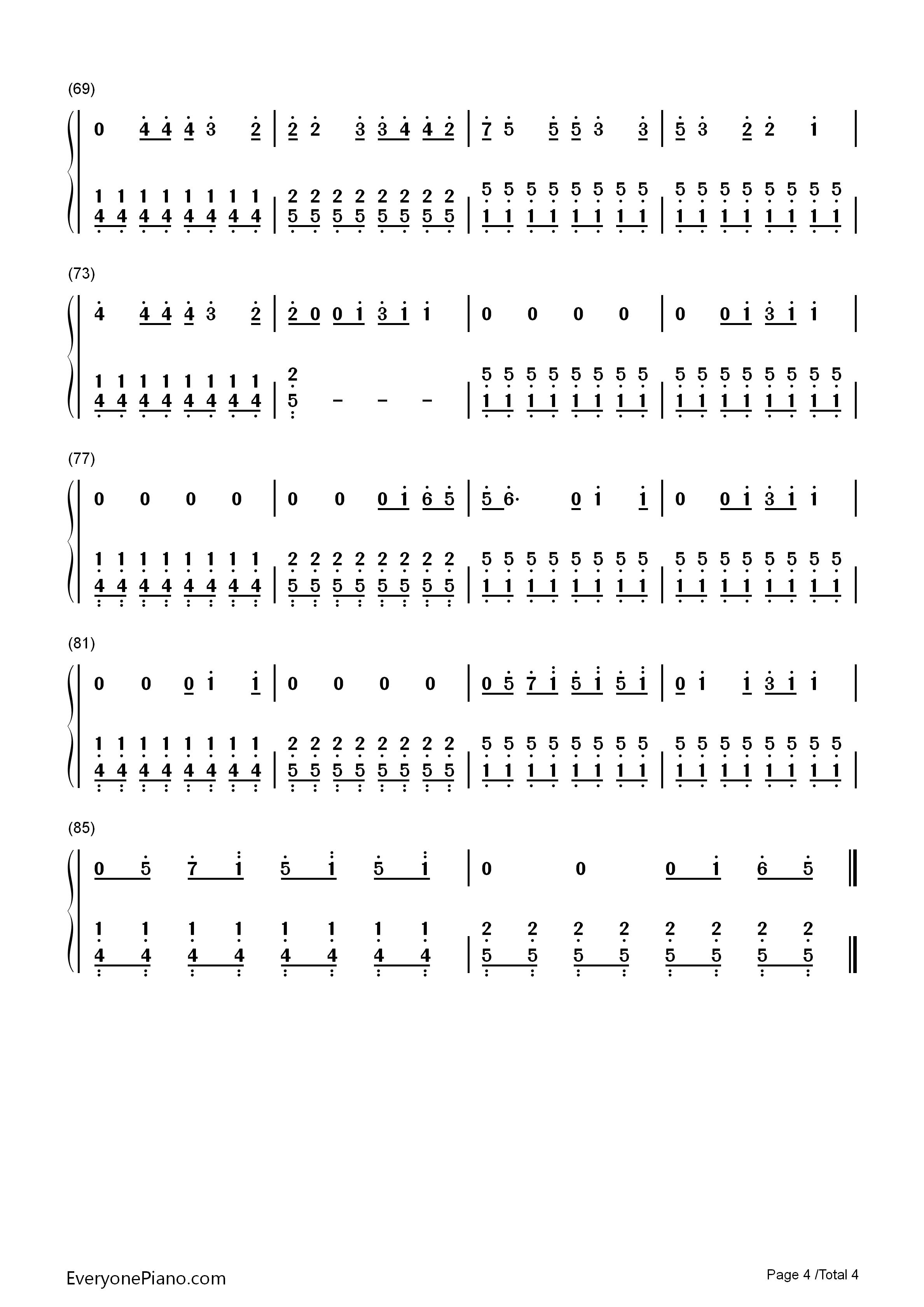 成都钢琴谱简谱双手分享_成都钢琴谱简谱双手