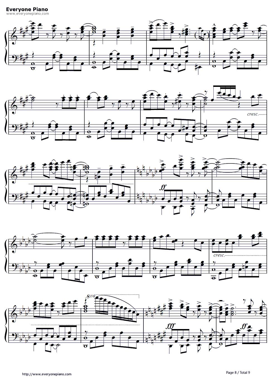 放马曲钢琴曲谱8级-线谱 预览8 钢琴谱