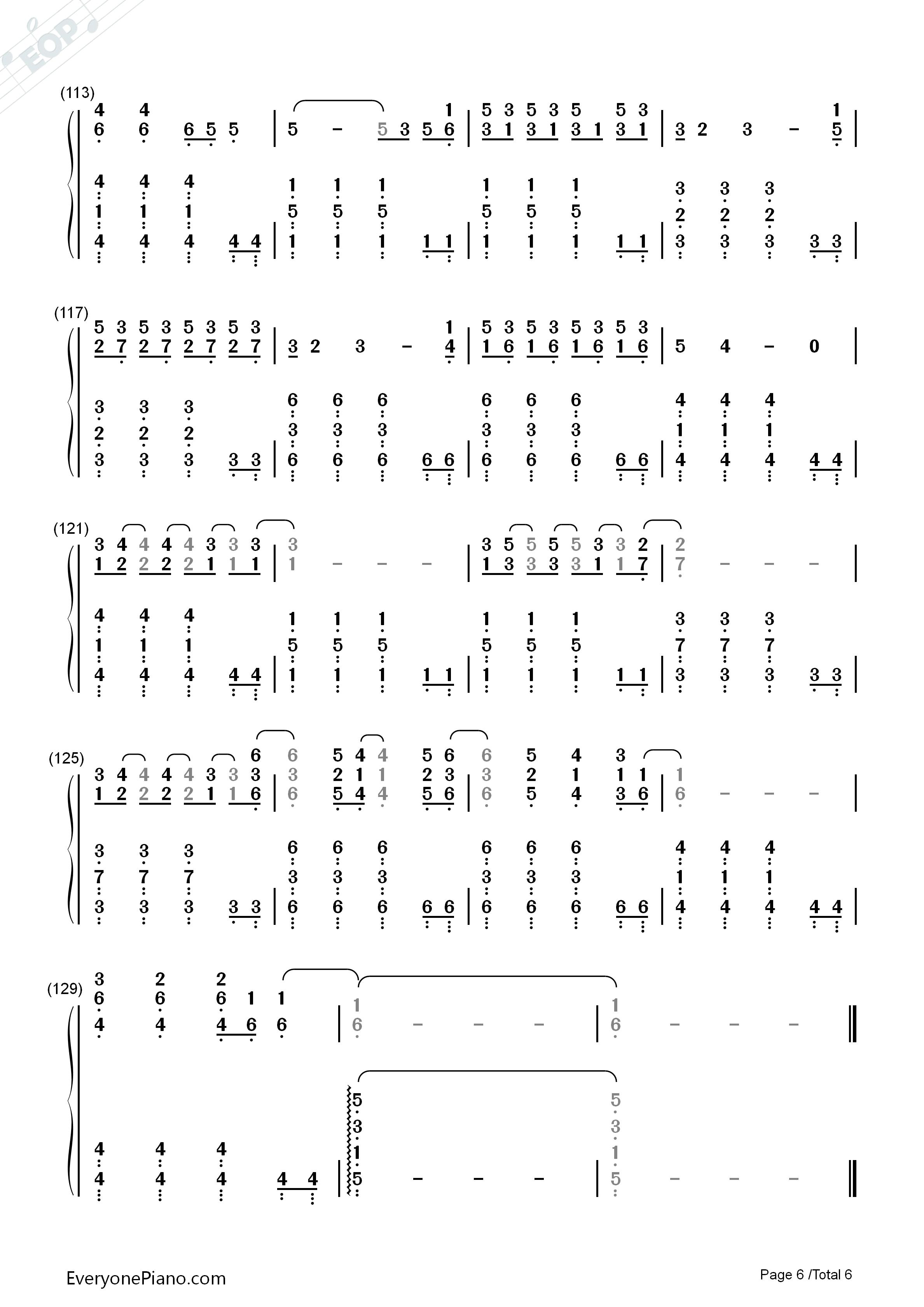 one call away 钢琴谱