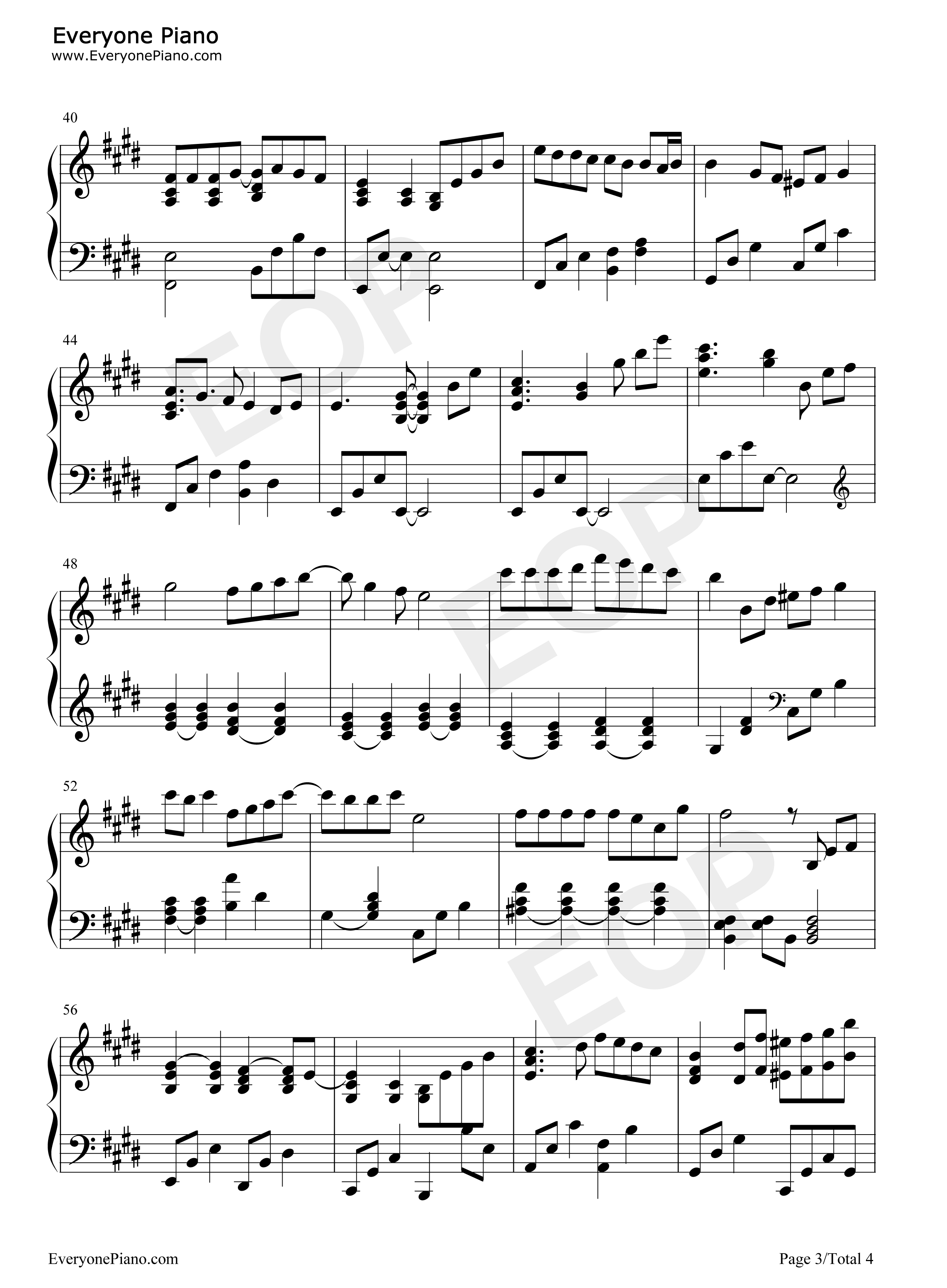 kaze no toorimichi piano sheet music pdf