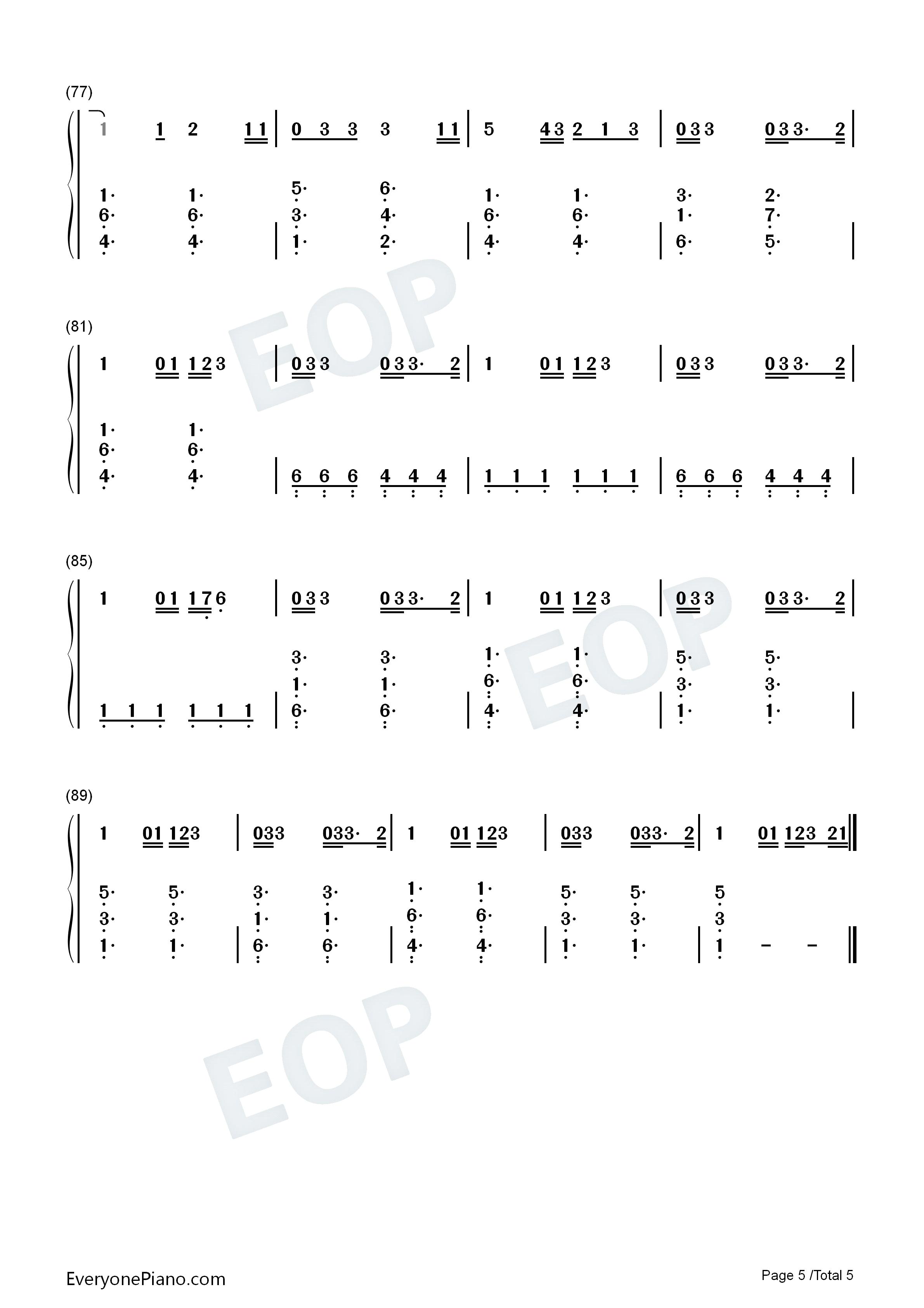 me love-ed sheeran双手简谱预览5