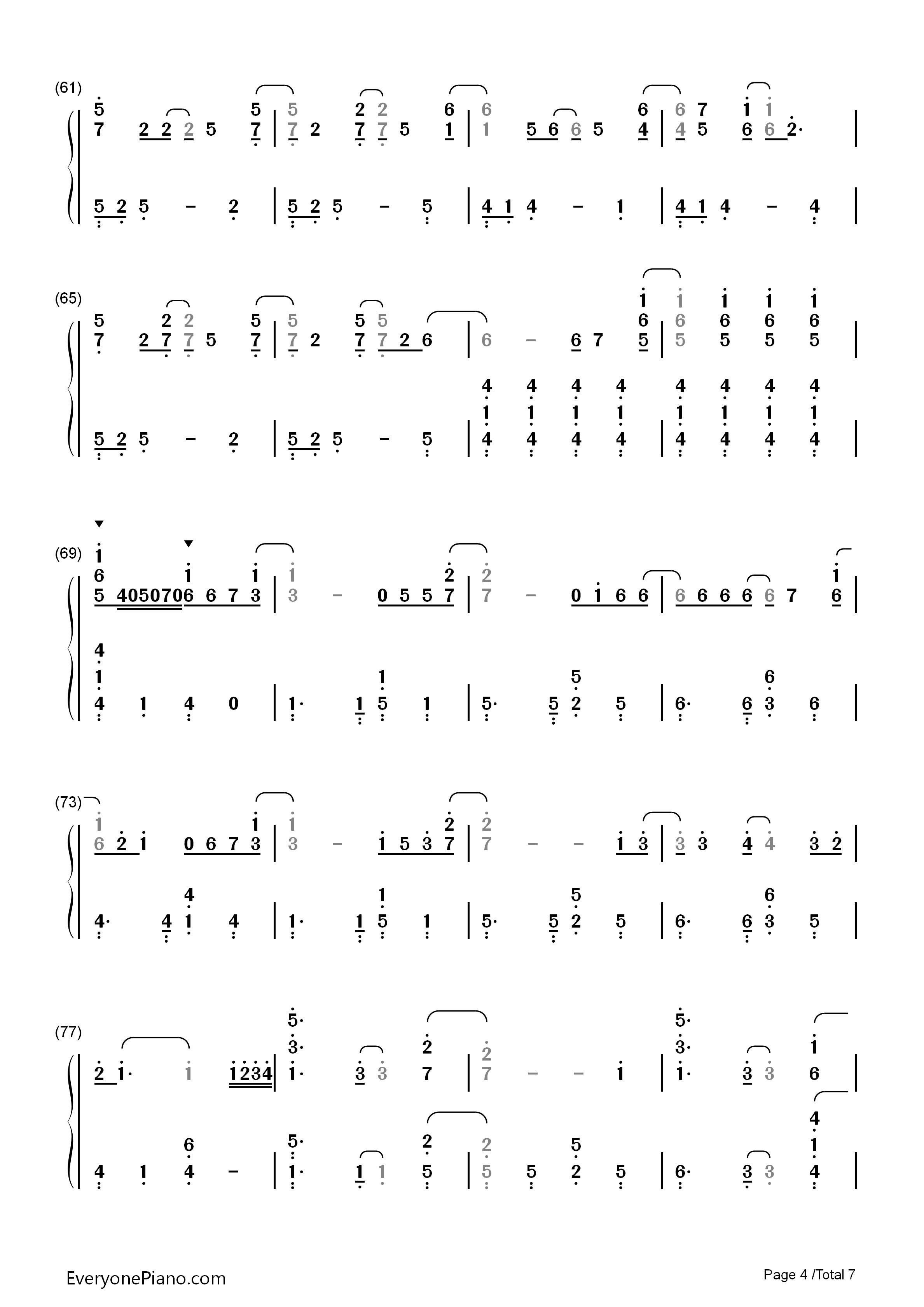 let it go简单版-冰雪奇缘主题曲双手简谱预览4-钢琴