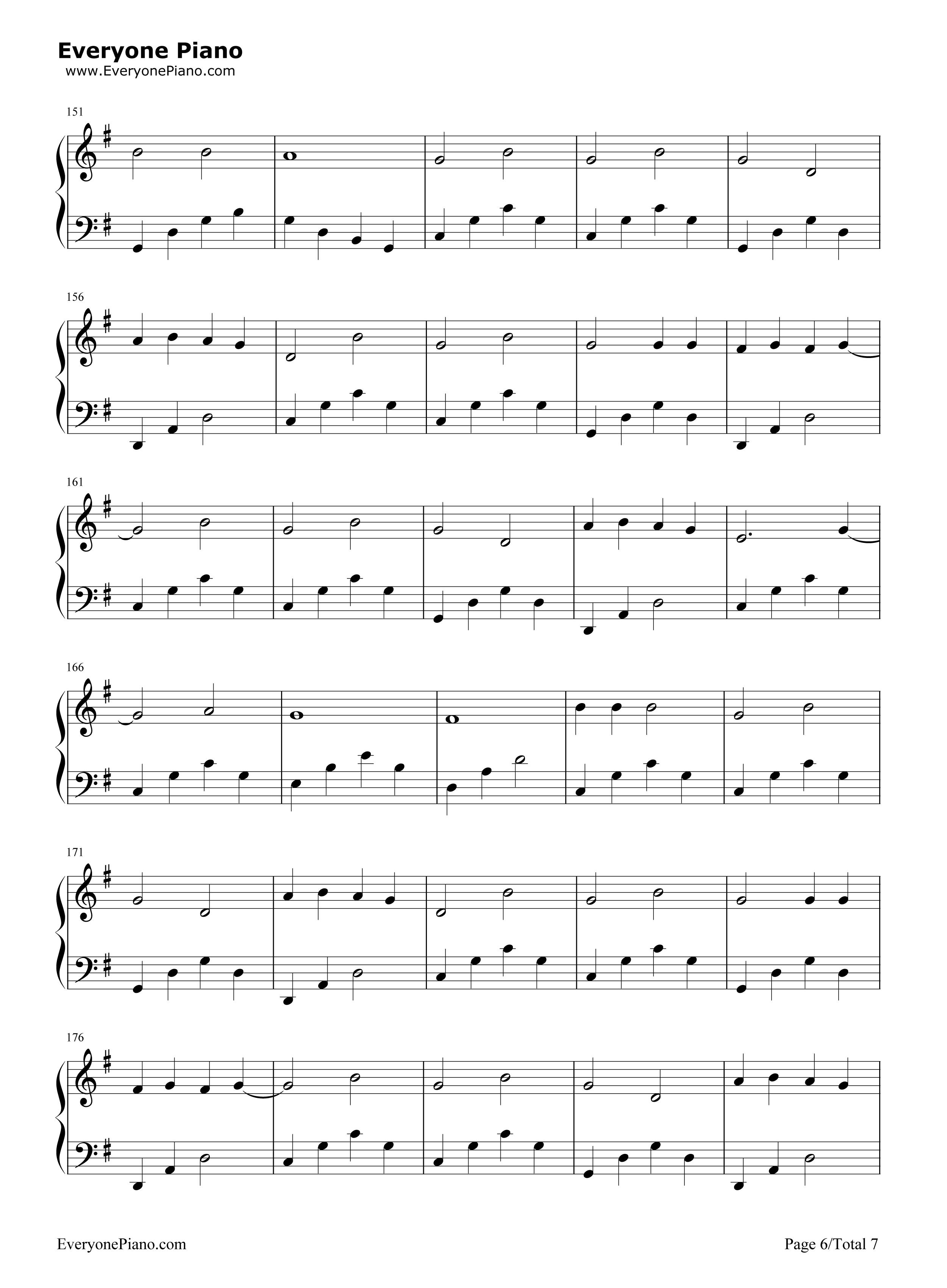 五线谱预览6 钢琴谱档 五线谱 双手简谱 数位谱 Midi PDF 免费下载