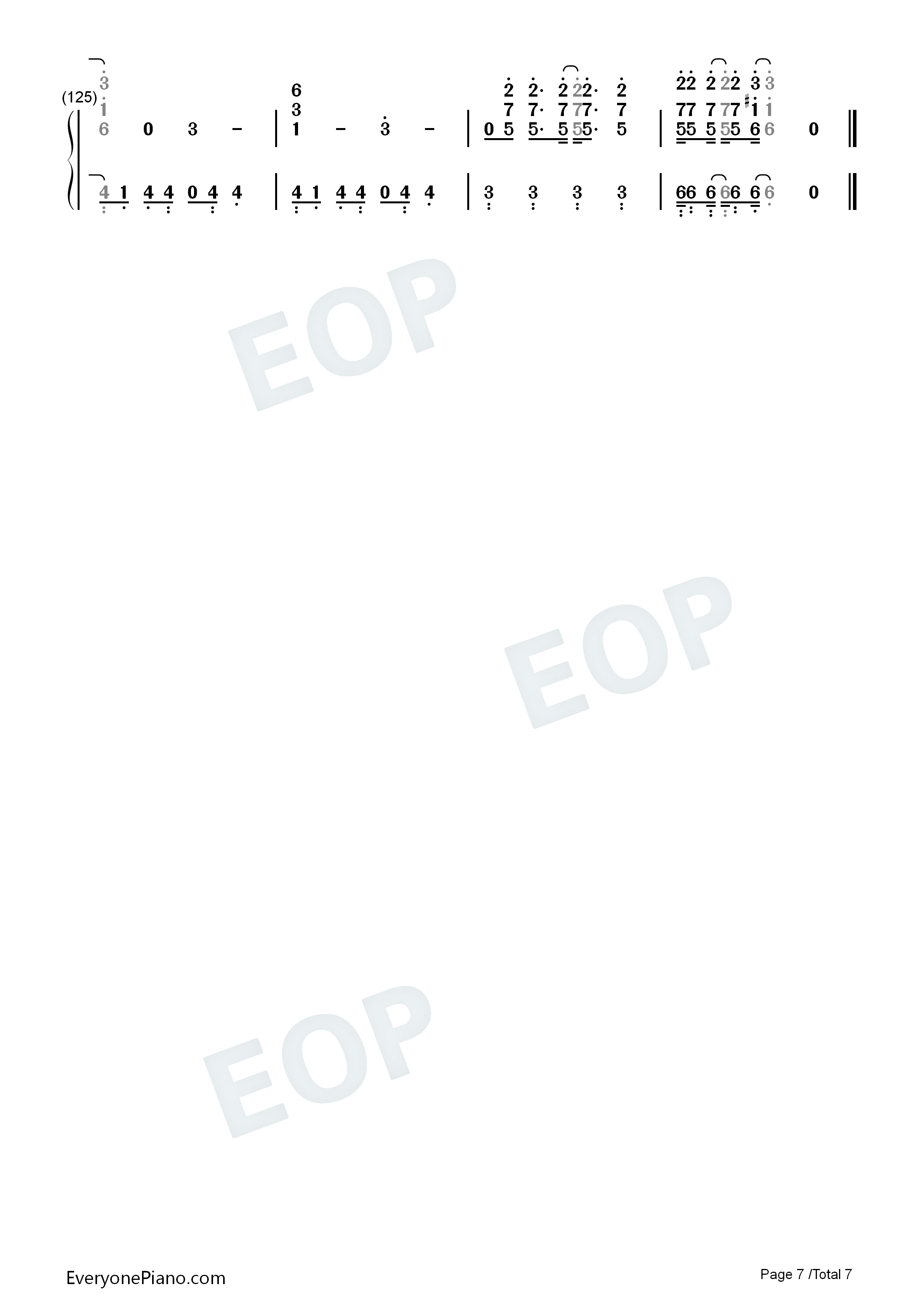 钢琴曲谱 流行 step and go-岚 step and go-岚双手简谱预览7  }