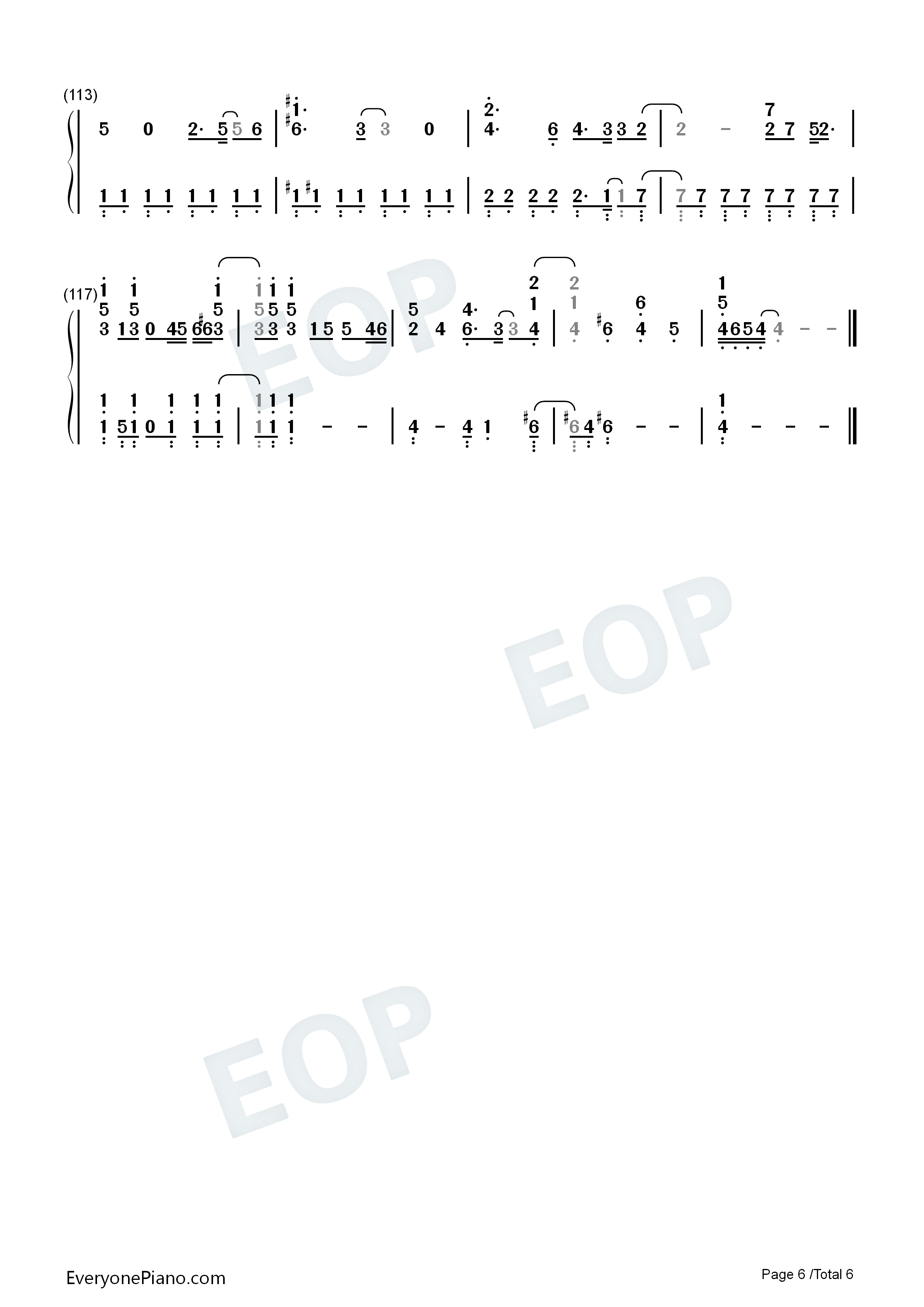 Good Day IU双手简谱预览6 钢琴谱档 五线谱 双手简谱 数位谱 Midi