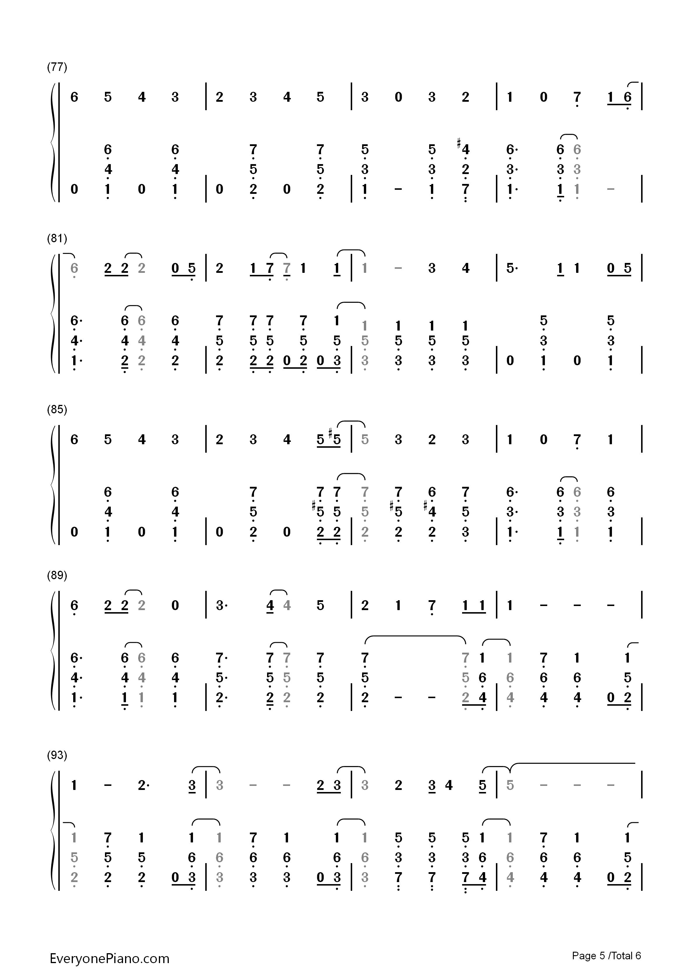 白い雪のプリンセスは-初音未来双手简谱预览5-钢琴谱