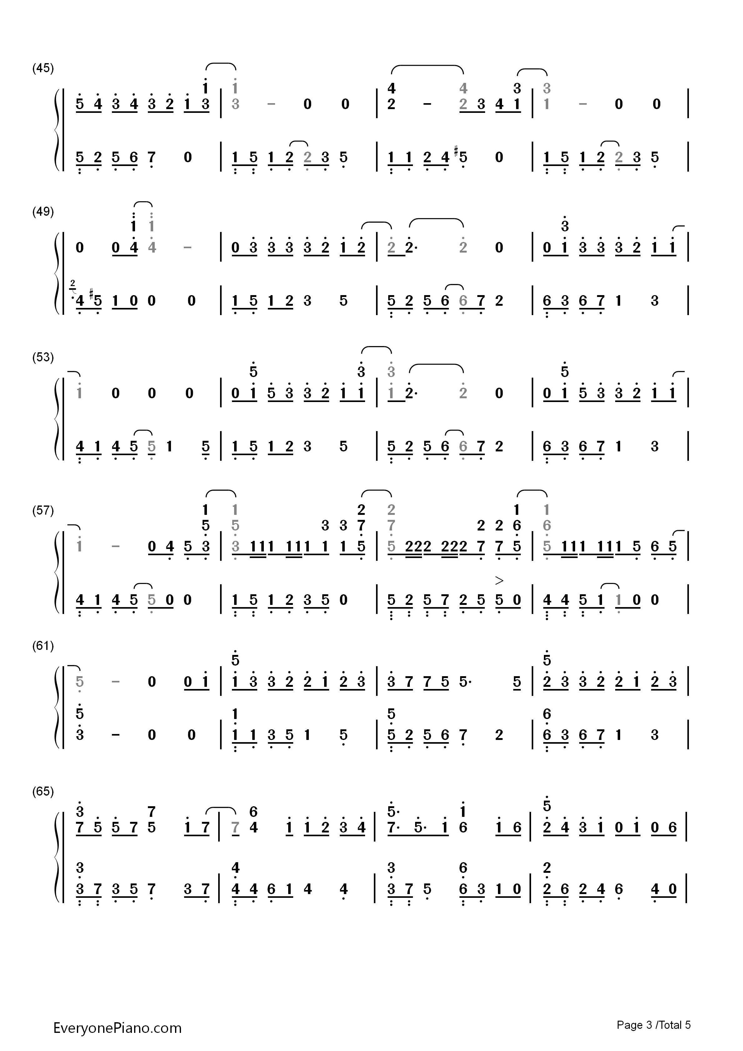 我的秘密-邓紫棋双手简谱预览3-钢琴谱