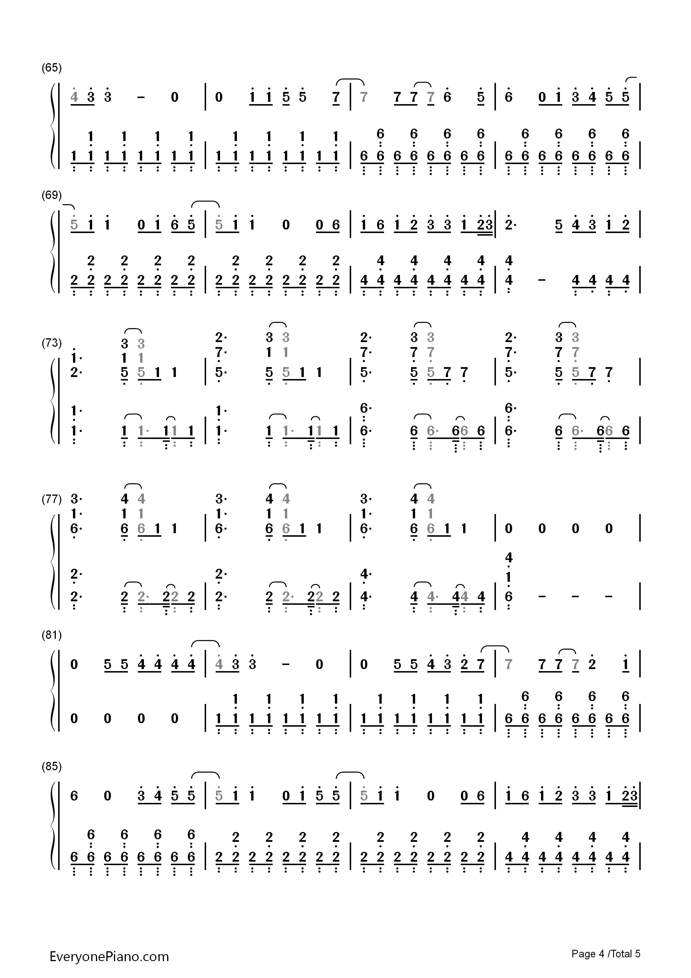 exo乐谱葫芦丝