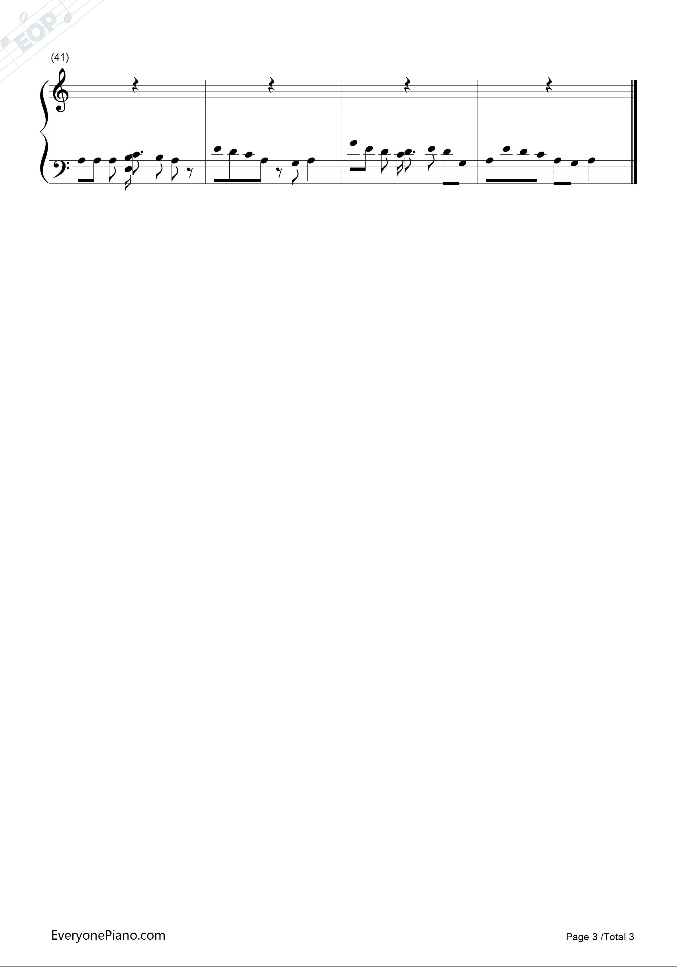 钢琴曲谱 影视 小苹果-简单版-老男孩之猛龙过江 小苹果-简单版