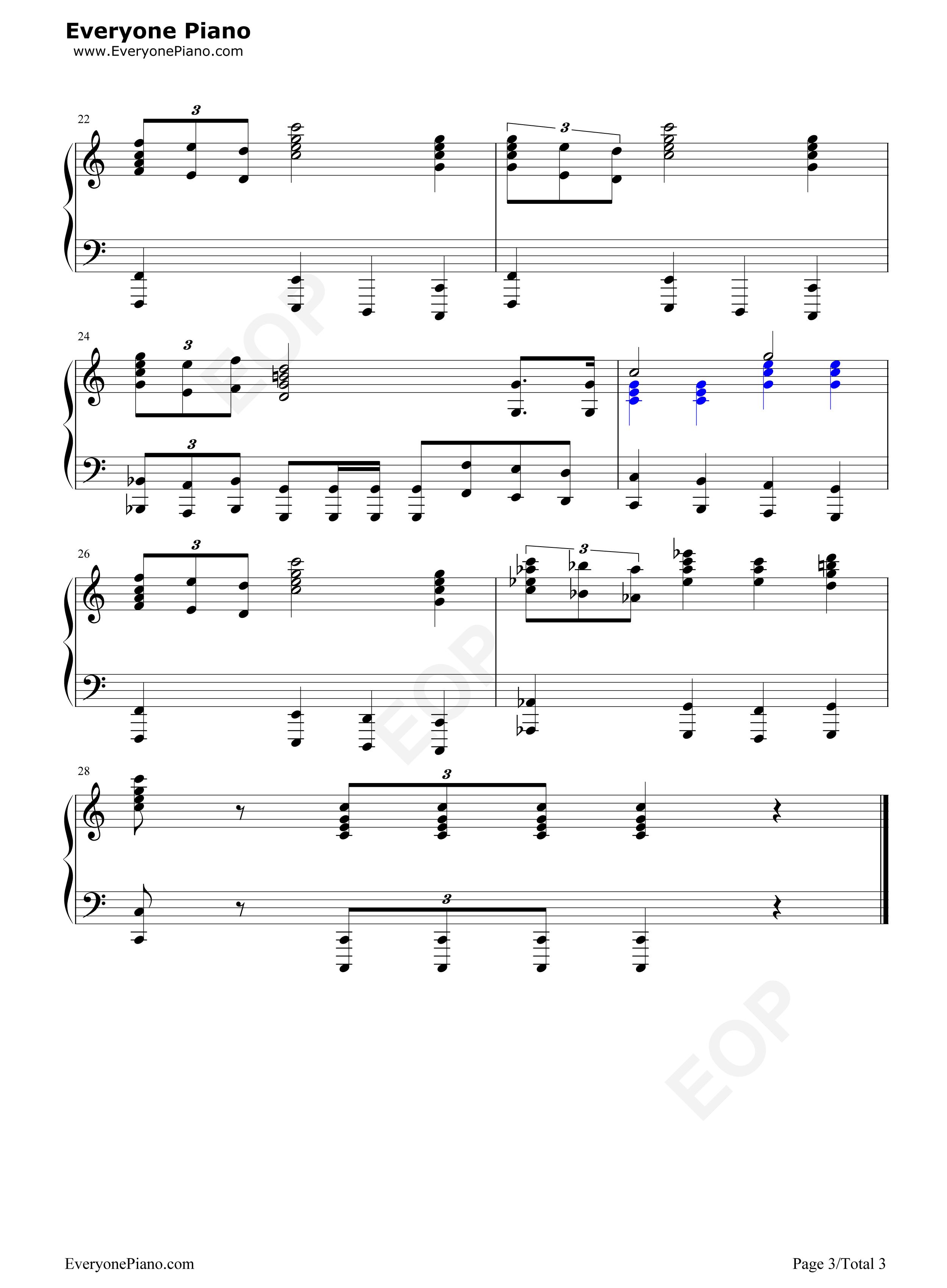 钢琴曲谱 流行 star wars-星球大战 主题曲 star wars-星球大战 主题