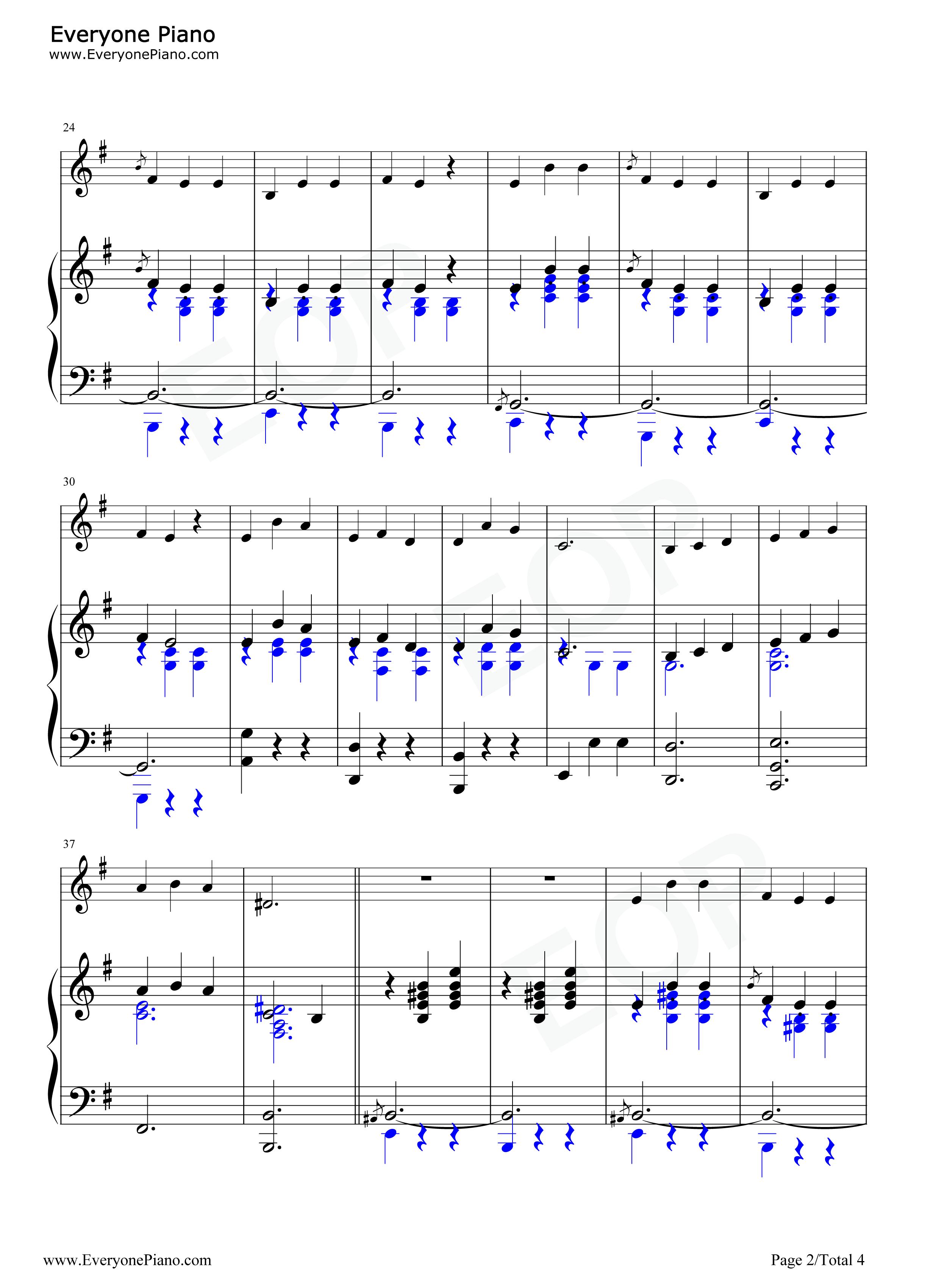 things-音乐之声插曲五线谱预览2