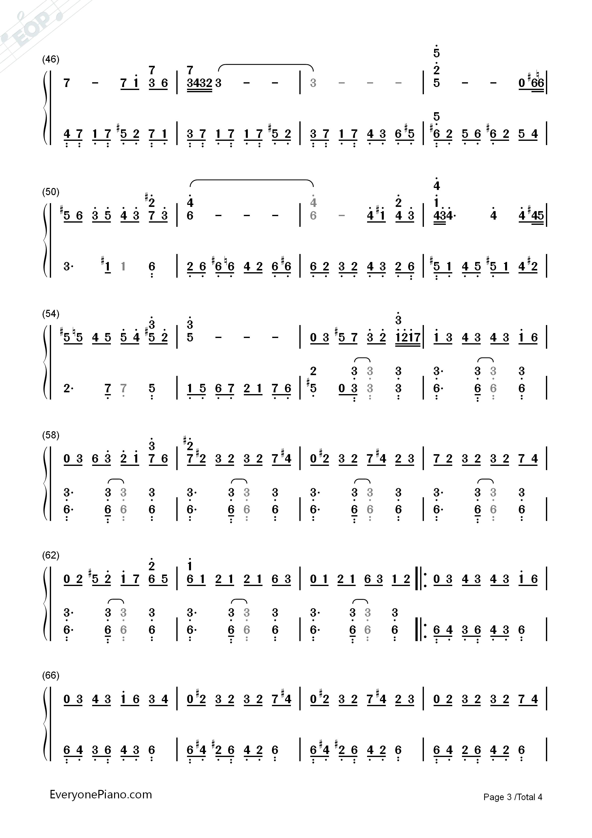 自由探戈-libertango-皮亚佐拉双手简谱预览3