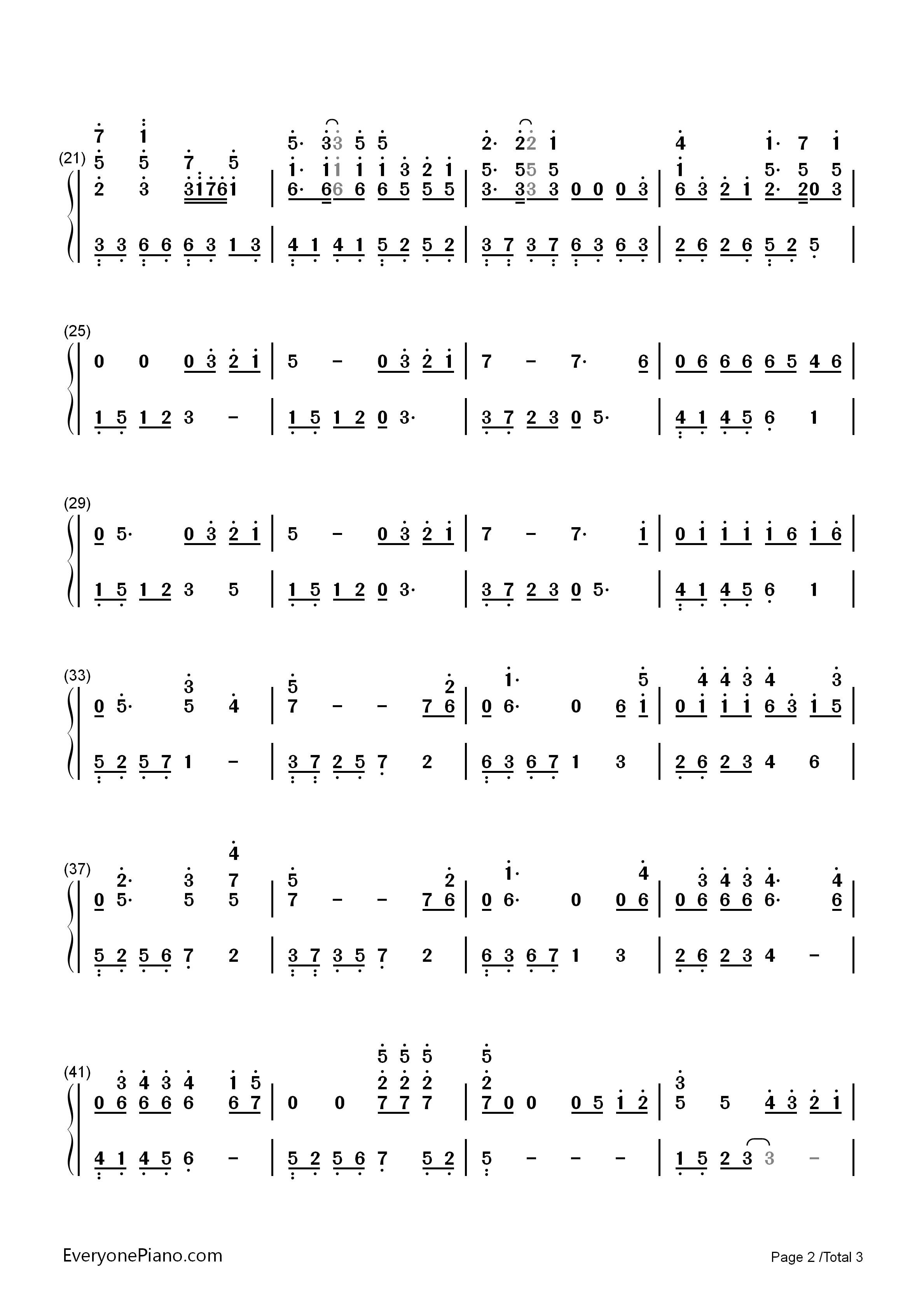tfboys的音乐谱子
