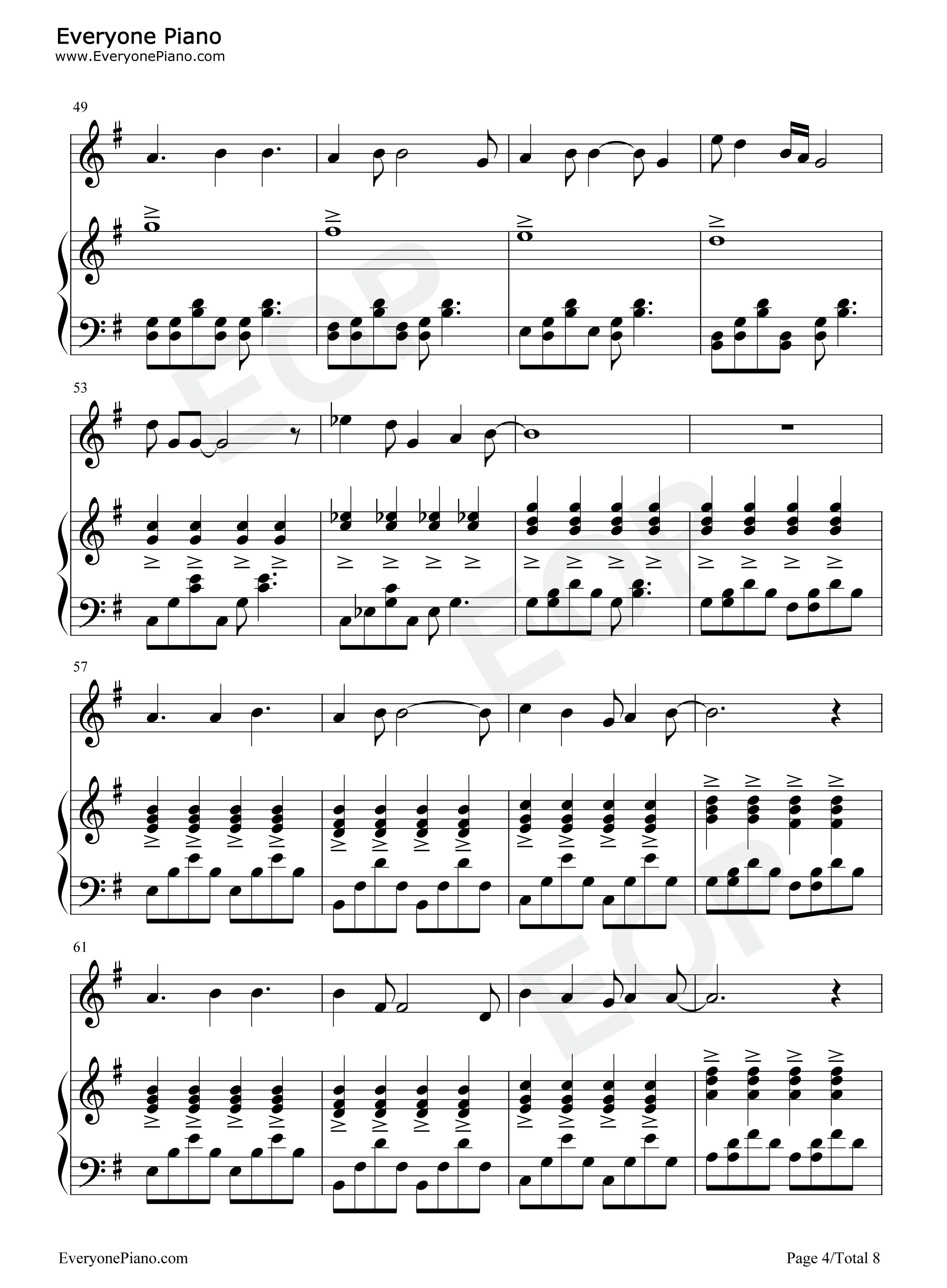 Day五线谱预览4 钢琴谱档 五线谱 双手简谱 数位谱 Midi PDF 免费下