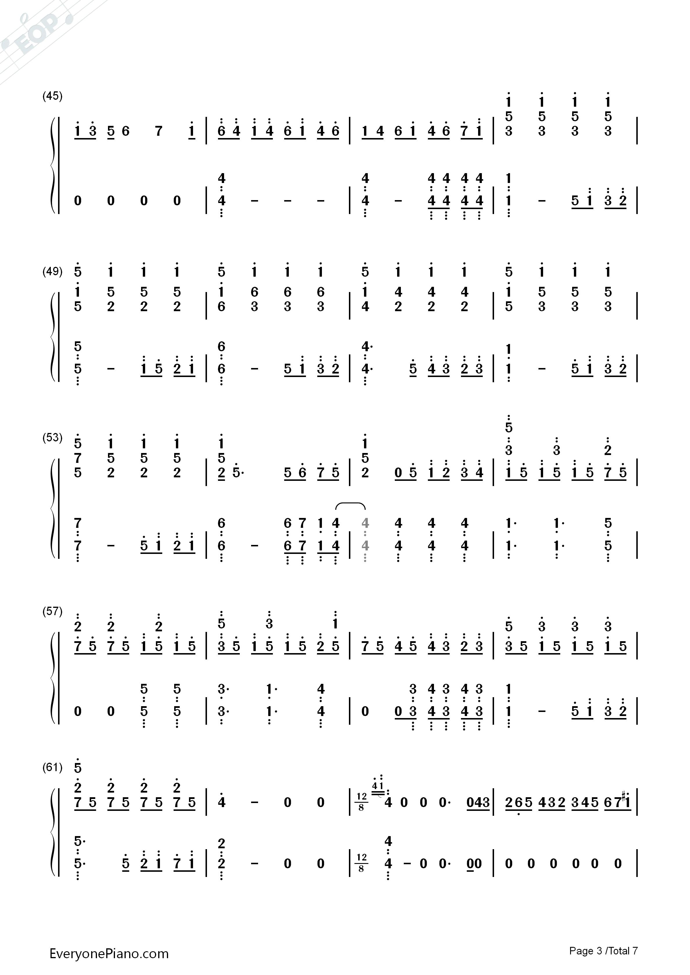 let it go伴奏-the piano guys-冰雪奇缘主题曲双手简谱预览3
