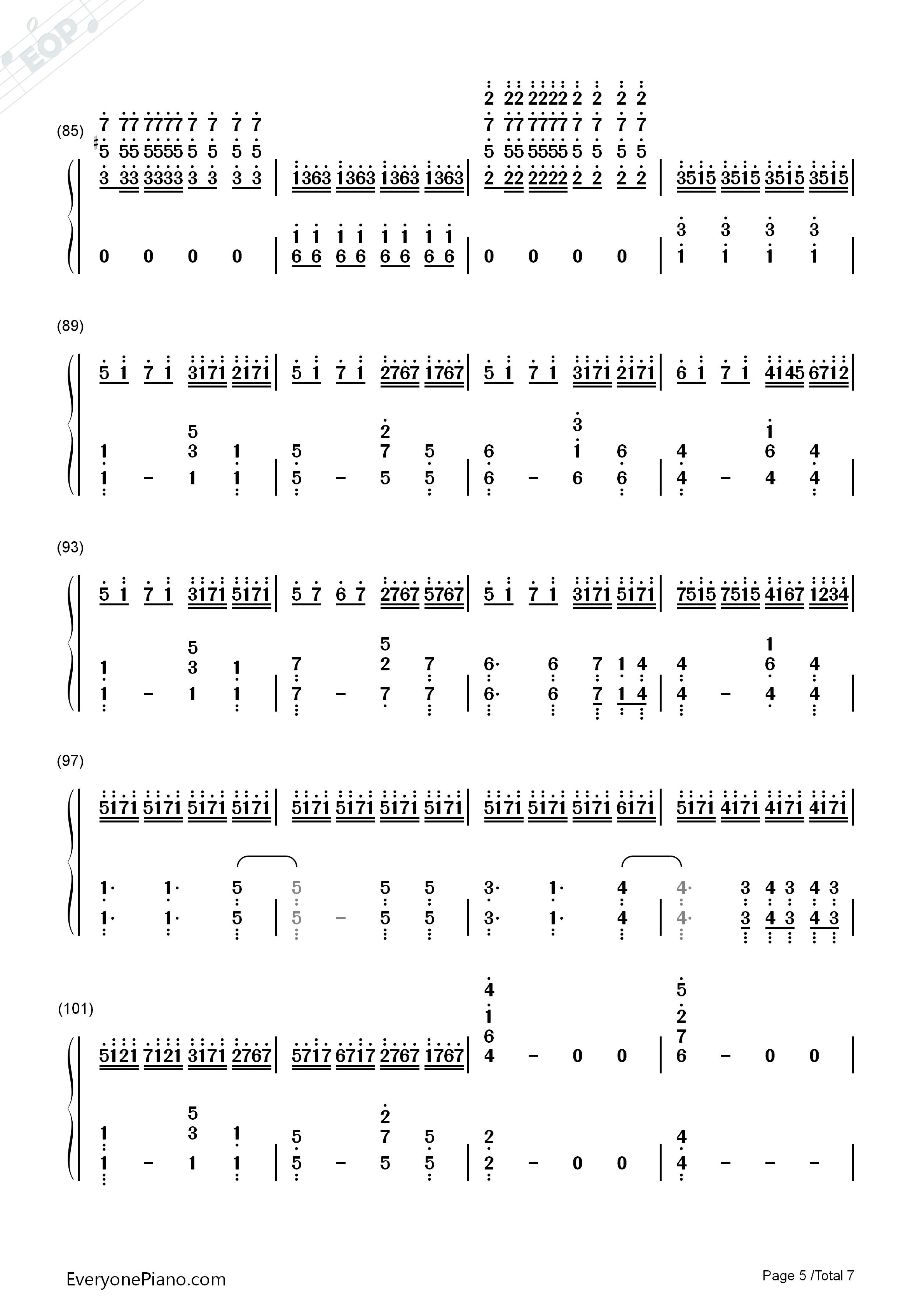 let it go伴奏-the piano guys-冰雪奇缘主题曲双手简谱预览5