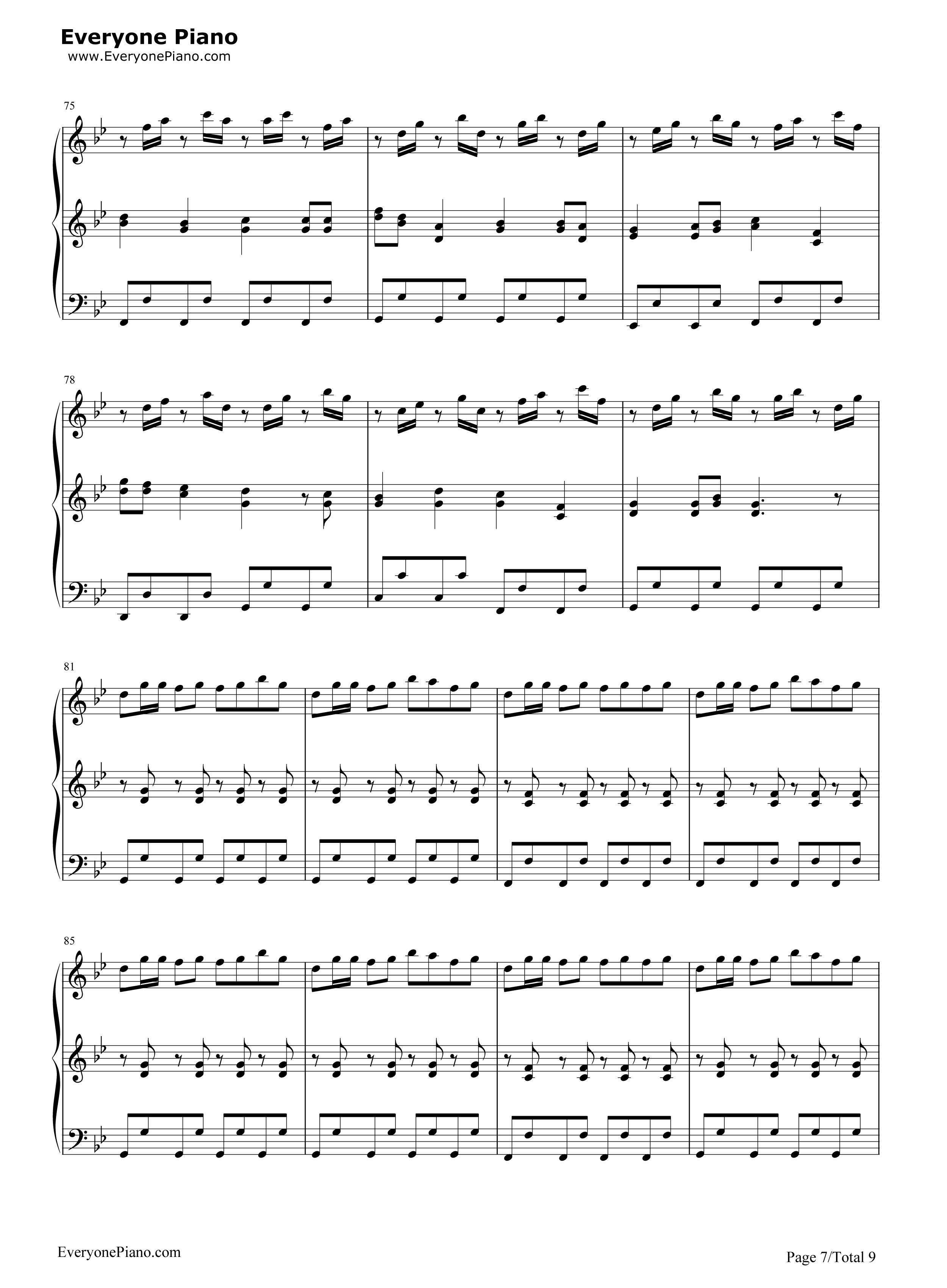 小苹果-三声部版-筷子兄弟五线谱预览7-钢琴谱(五线谱