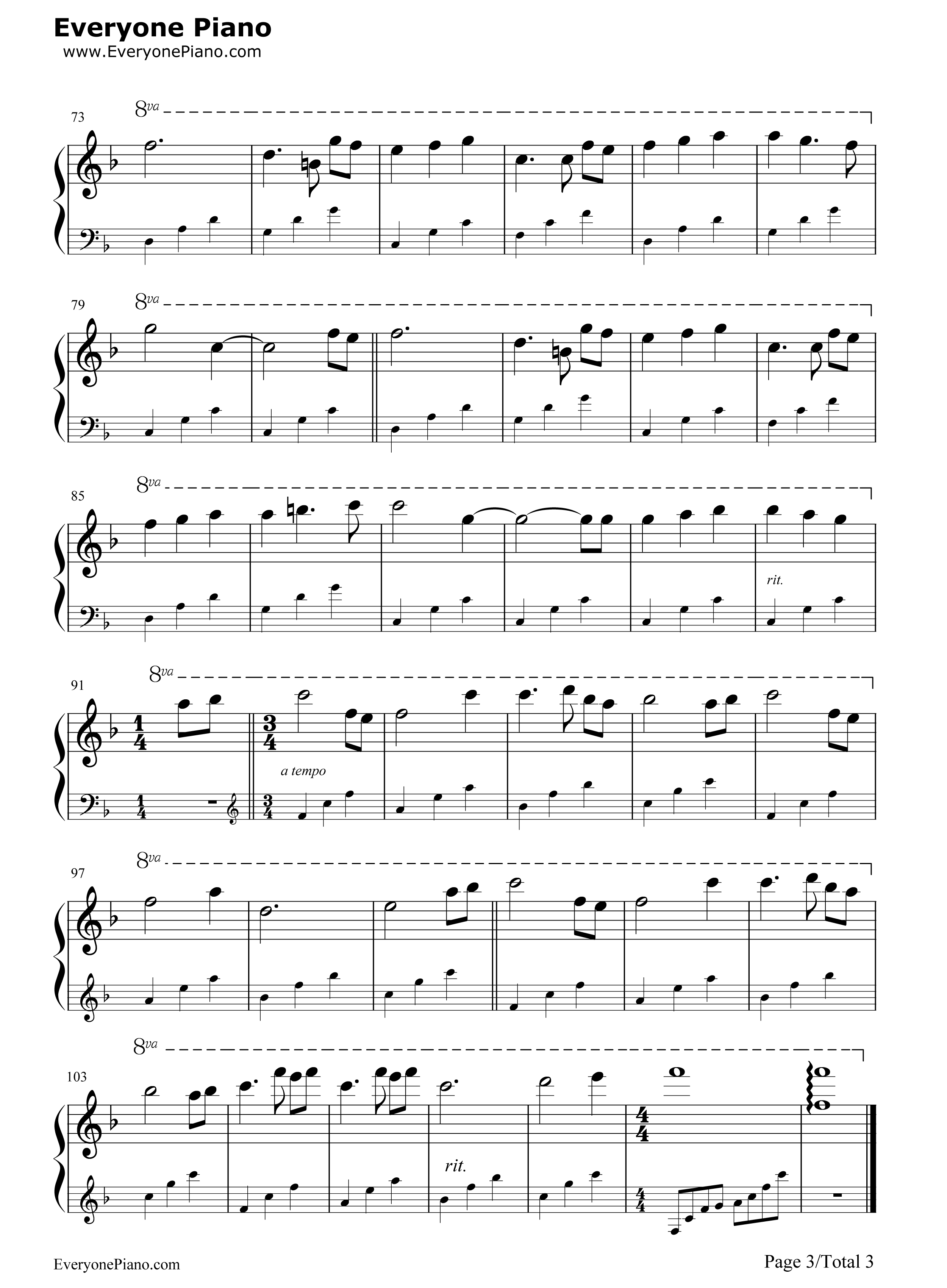 song for sienna piano pdf