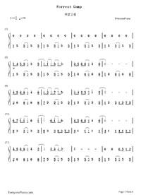 forrest gump easy piano pdf