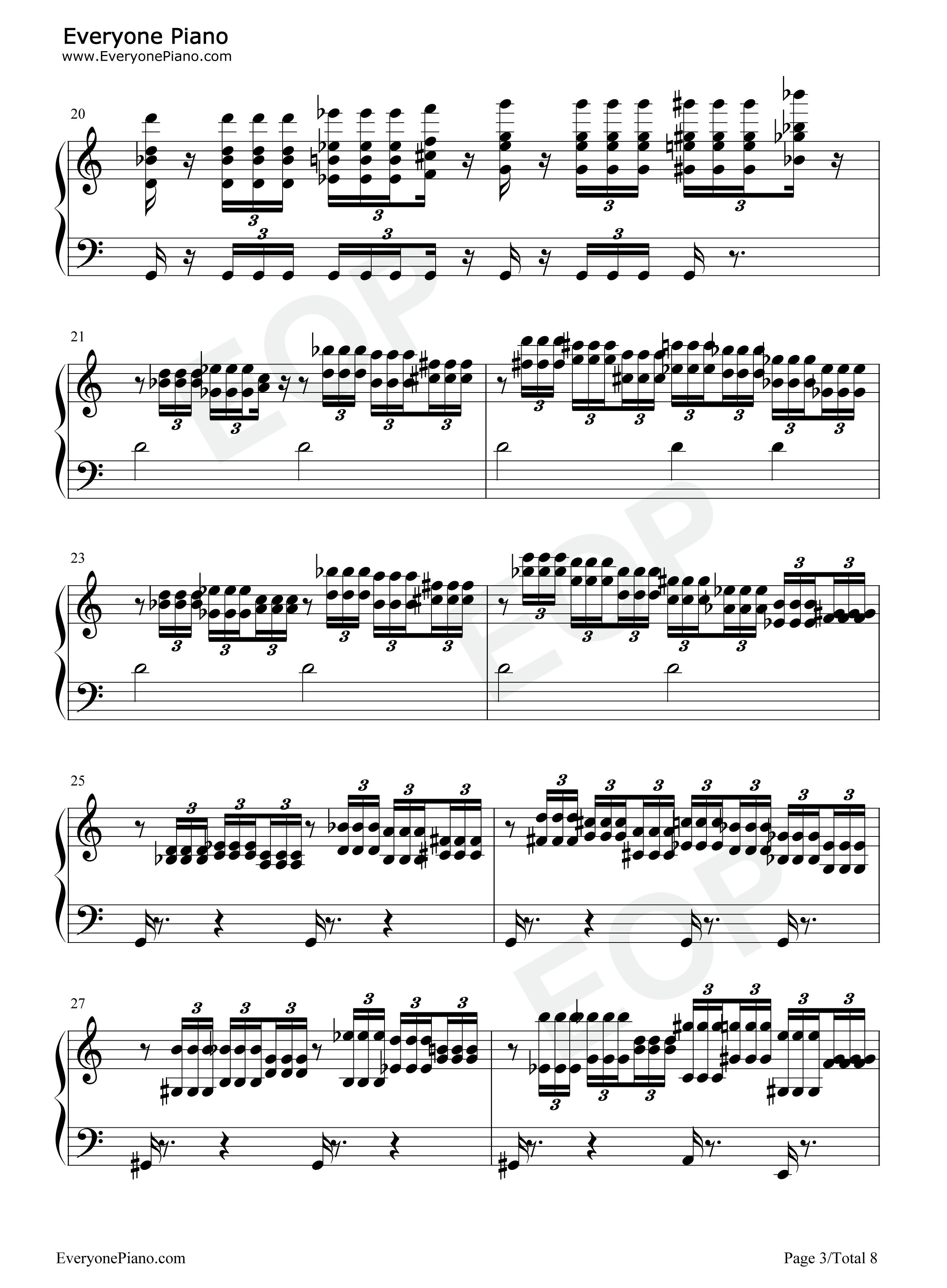 钢琴曲谱 流行 the imperial march-帝国进行曲-星球大战 配乐 the im