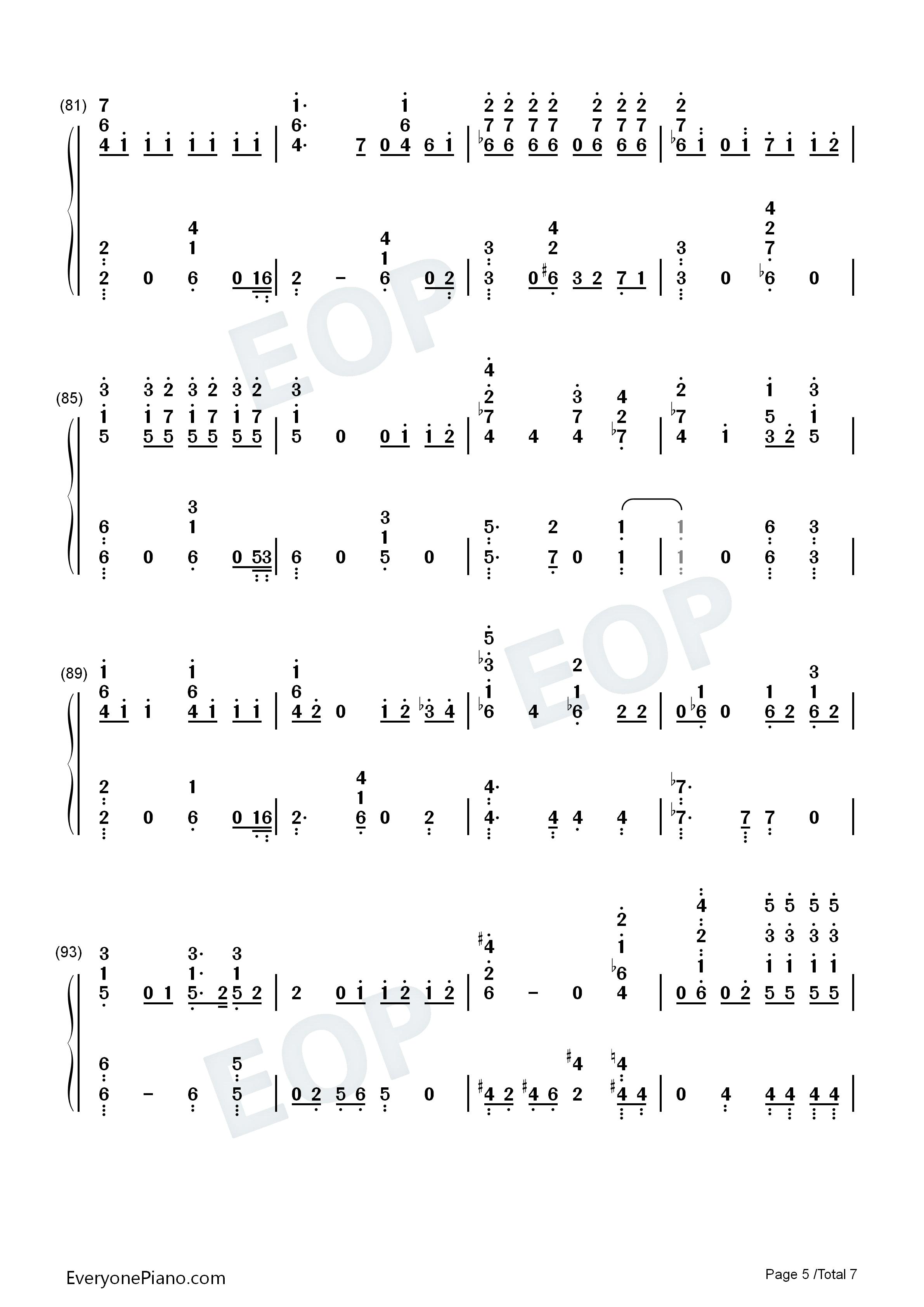 钢琴曲谱 流行 moonlight-月光-exo  moonlight-月光-exo 双手简谱