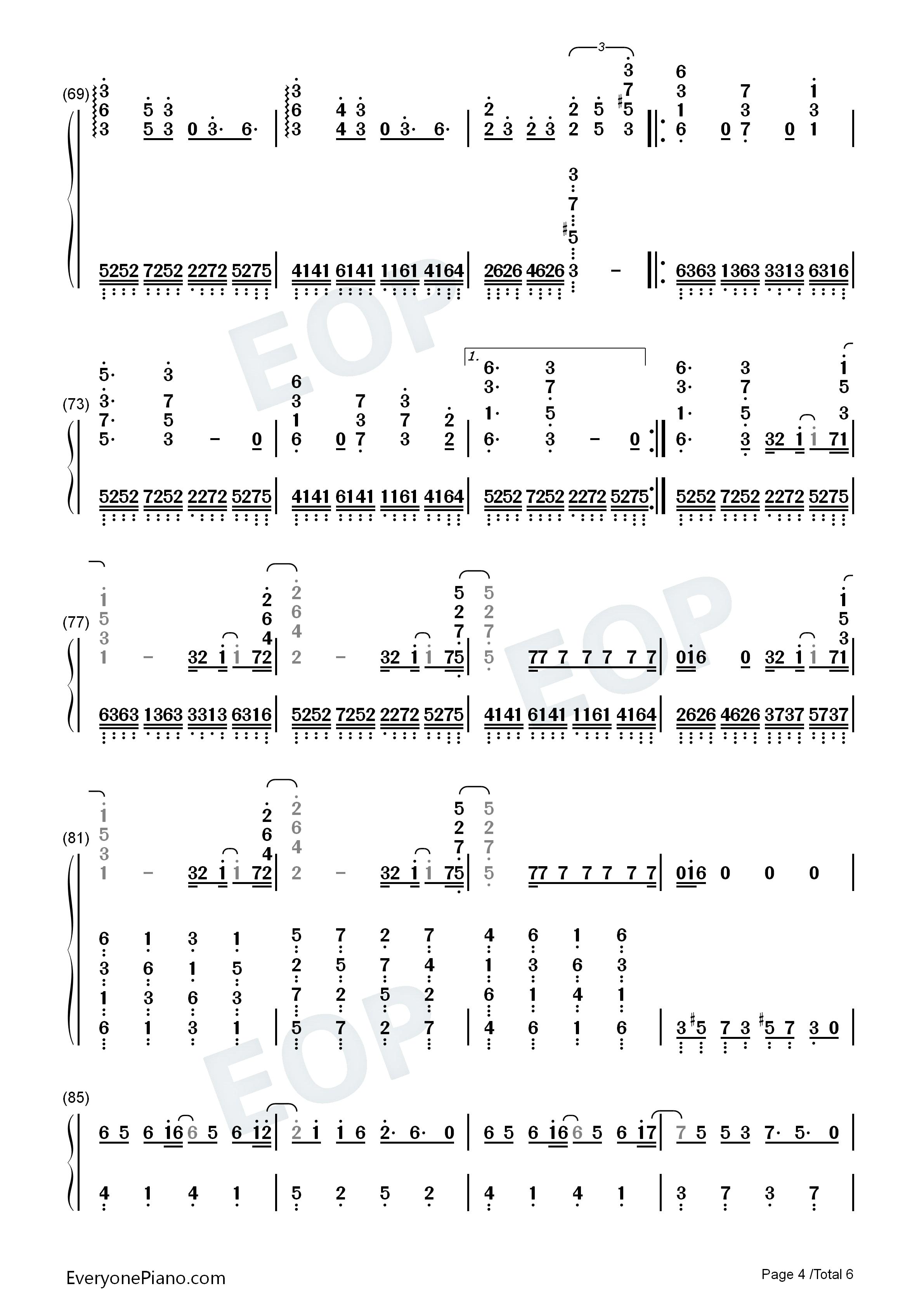 aliez-aldnoah zero ed2双手简谱预览4