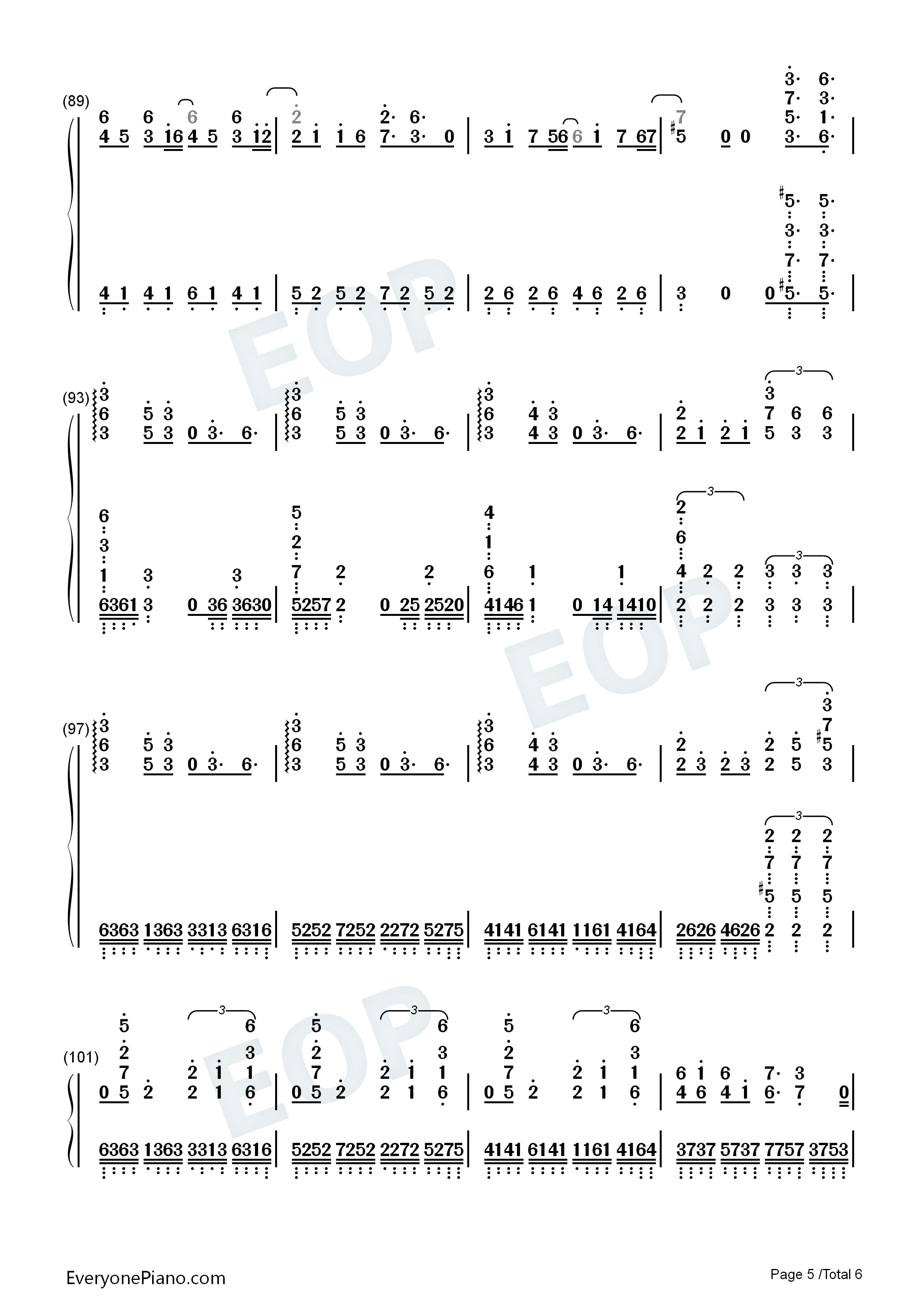 aliez-aldnoah zero ed2双手简谱预览5