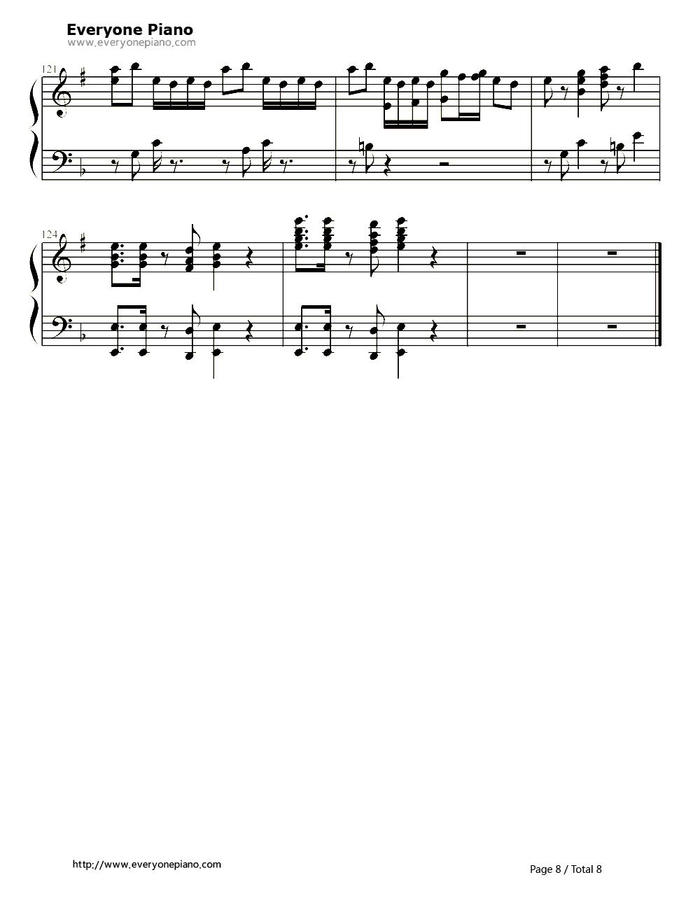 千本樱-慢速版-初音ミク五线谱预览8图片