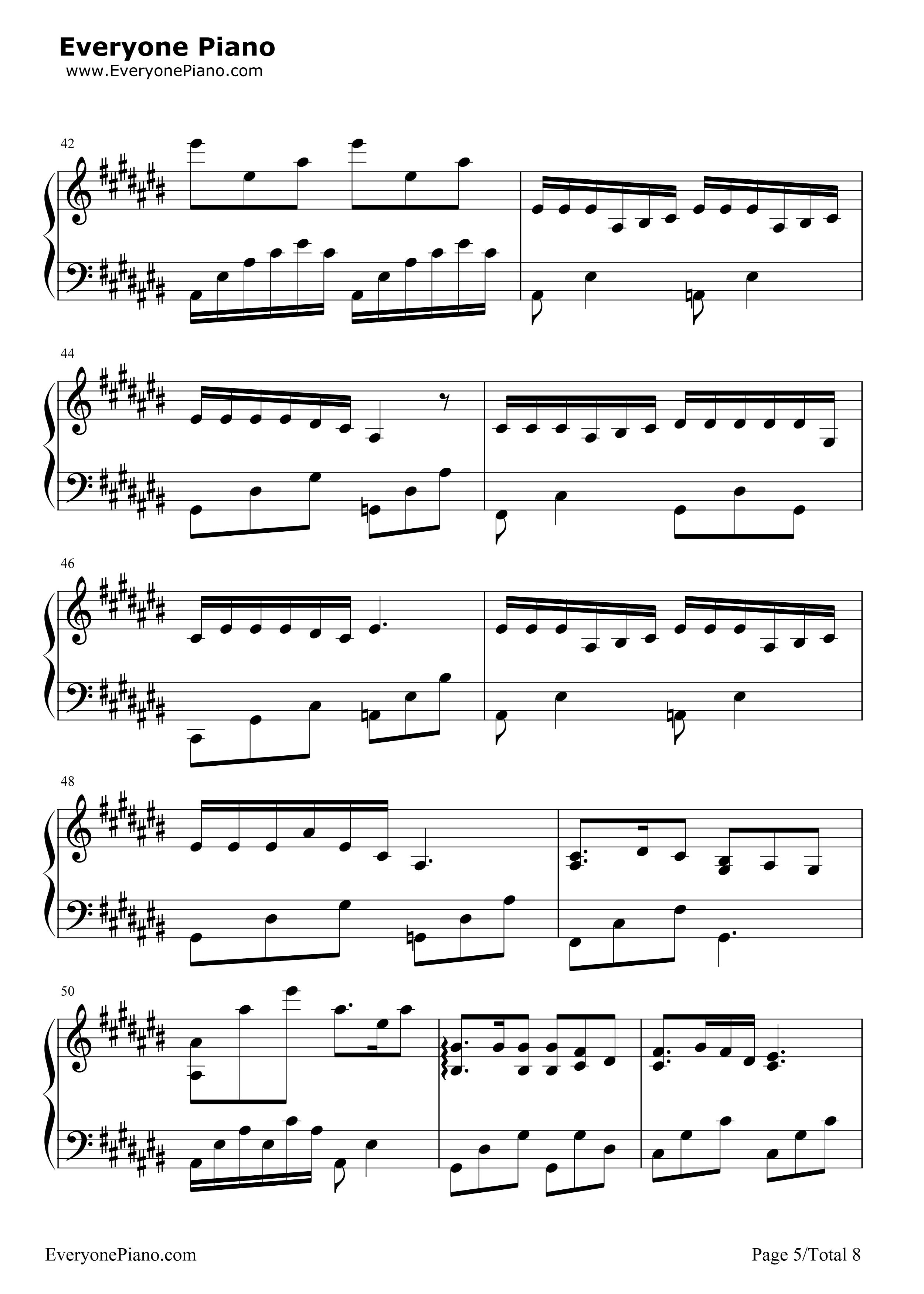 匆匆那年-匆匆那年主题曲五线谱预览5-钢琴谱图片