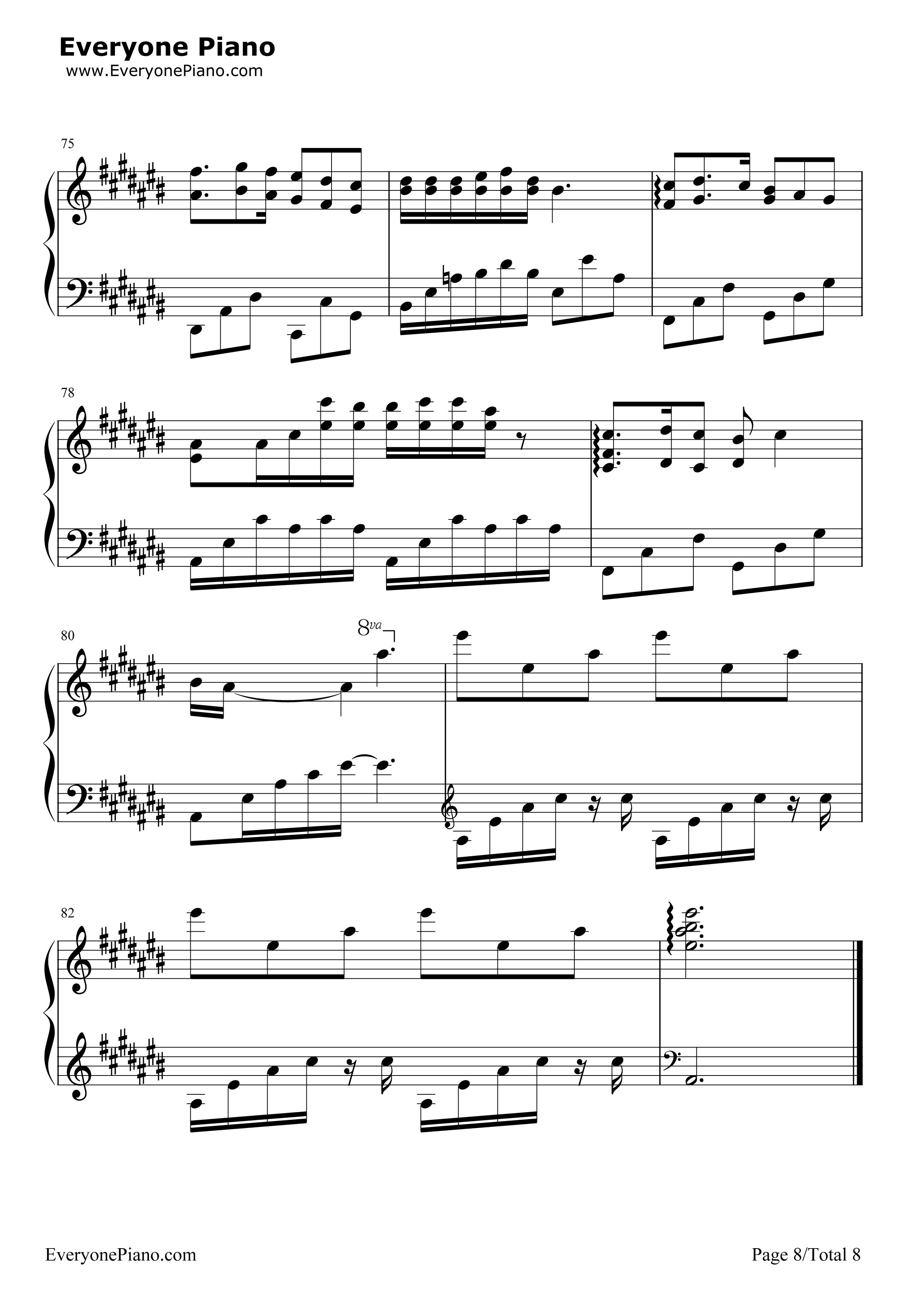 匆匆那年-匆匆那年主题曲五线谱预览8-钢琴谱图片