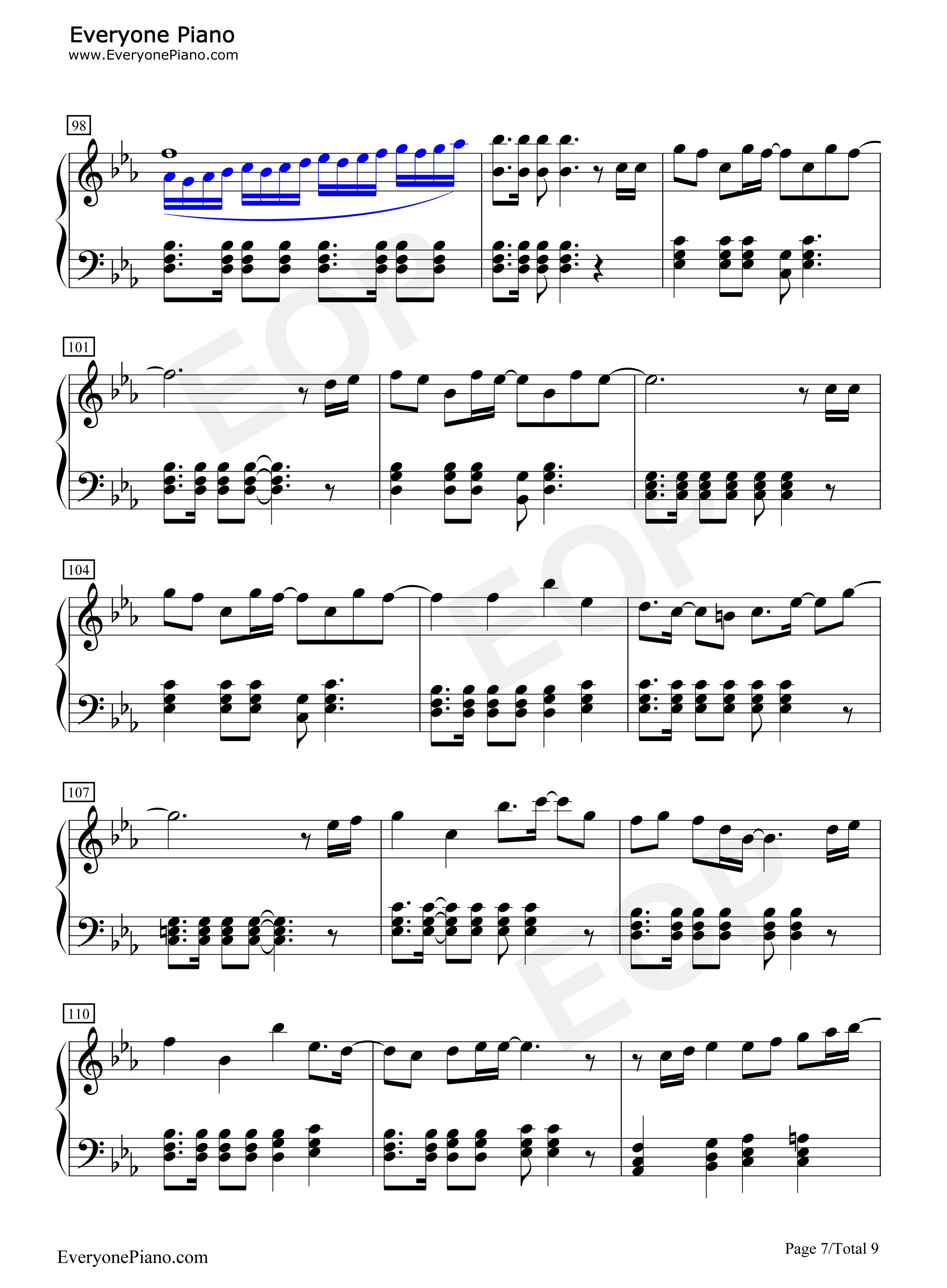 钢琴曲谱 动漫 crystal time-歌之王子殿下角色歌 crystal time-歌之