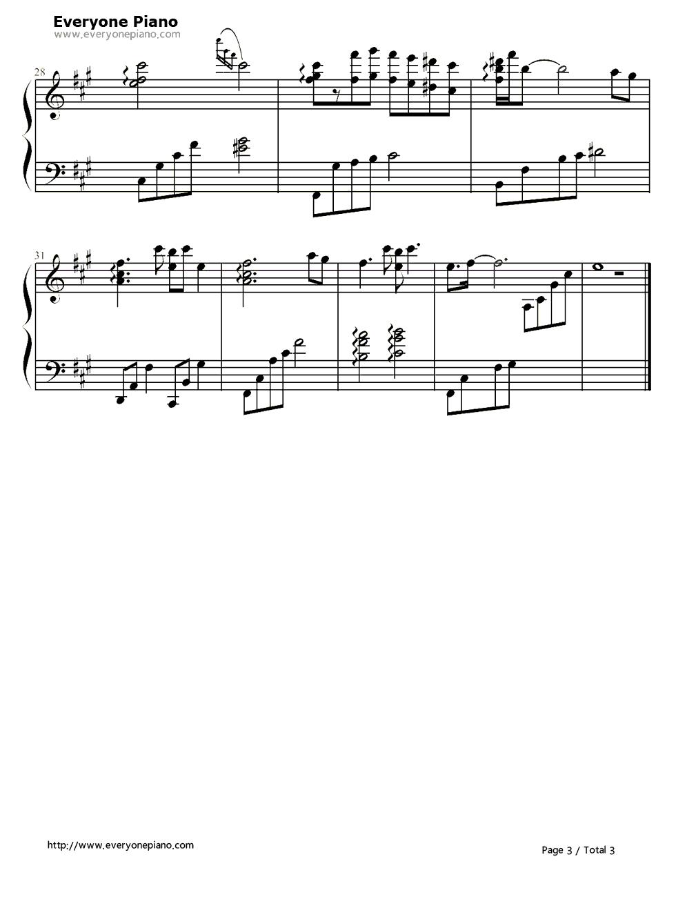 钢琴曲谱 流行 九儿-红高粱ed 九儿-红高粱ed五线谱预览3  }  仅供