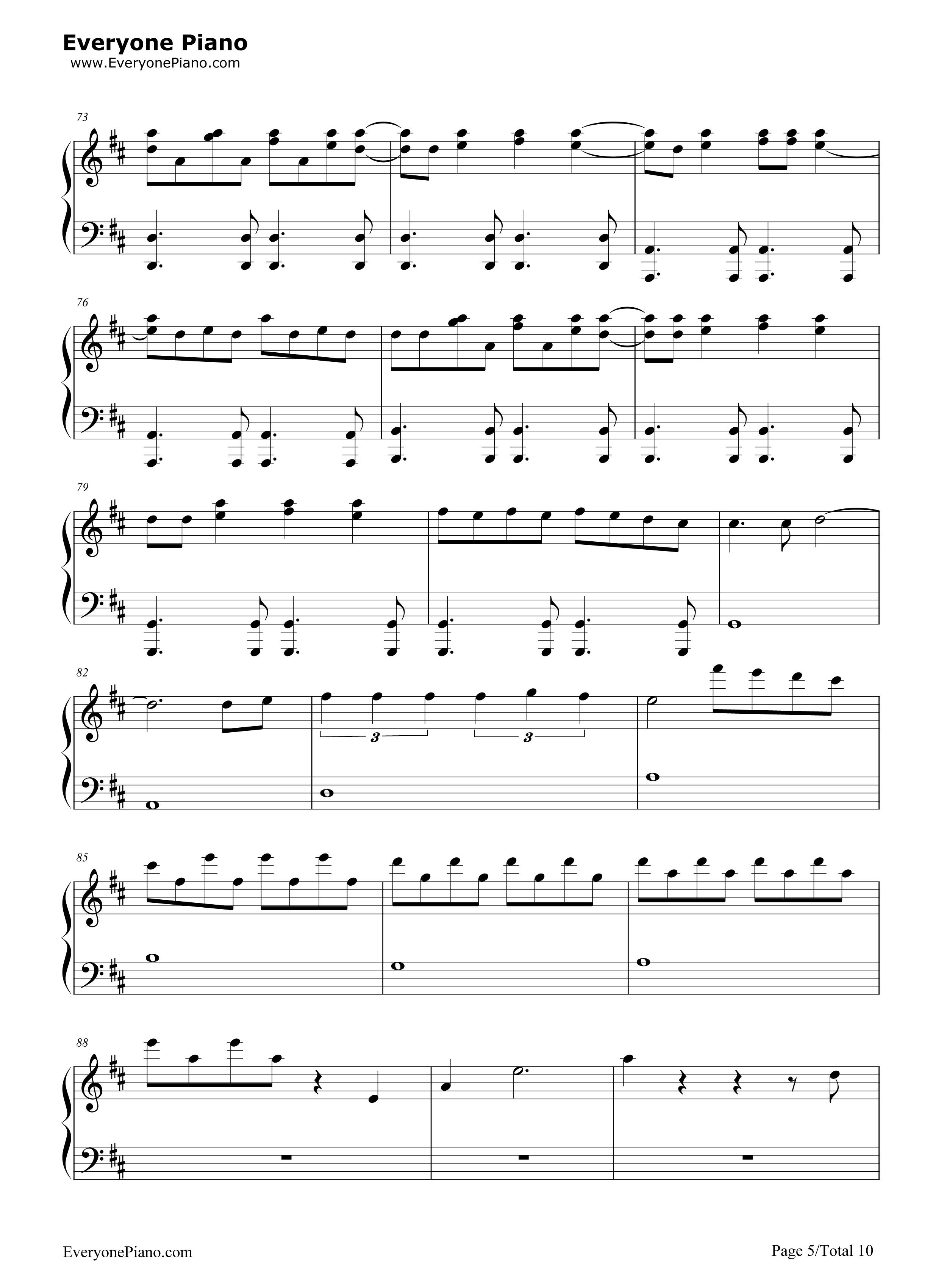 love story meets viva la vida-the piano guys五线谱预览5