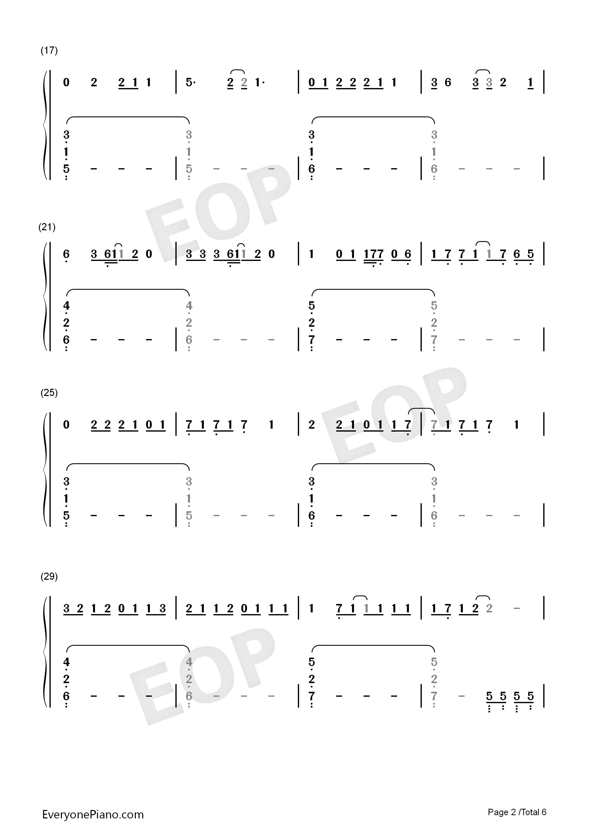 Swift双手简谱预览2 钢琴谱档 五线谱 双手简谱 数位谱 Midi PDF 免费