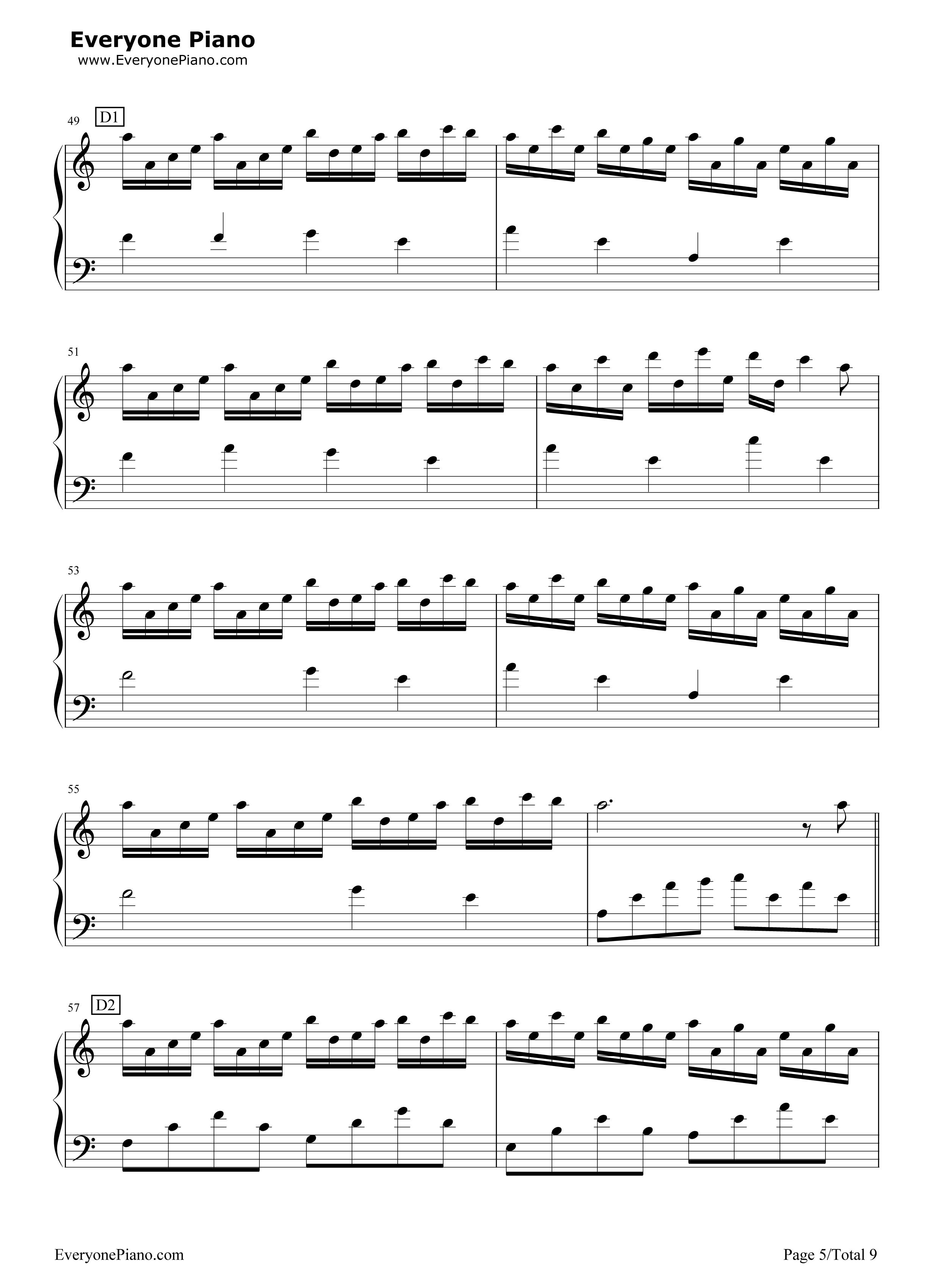 Flower dance c 5 midi pdf for Piano dance music 90 s