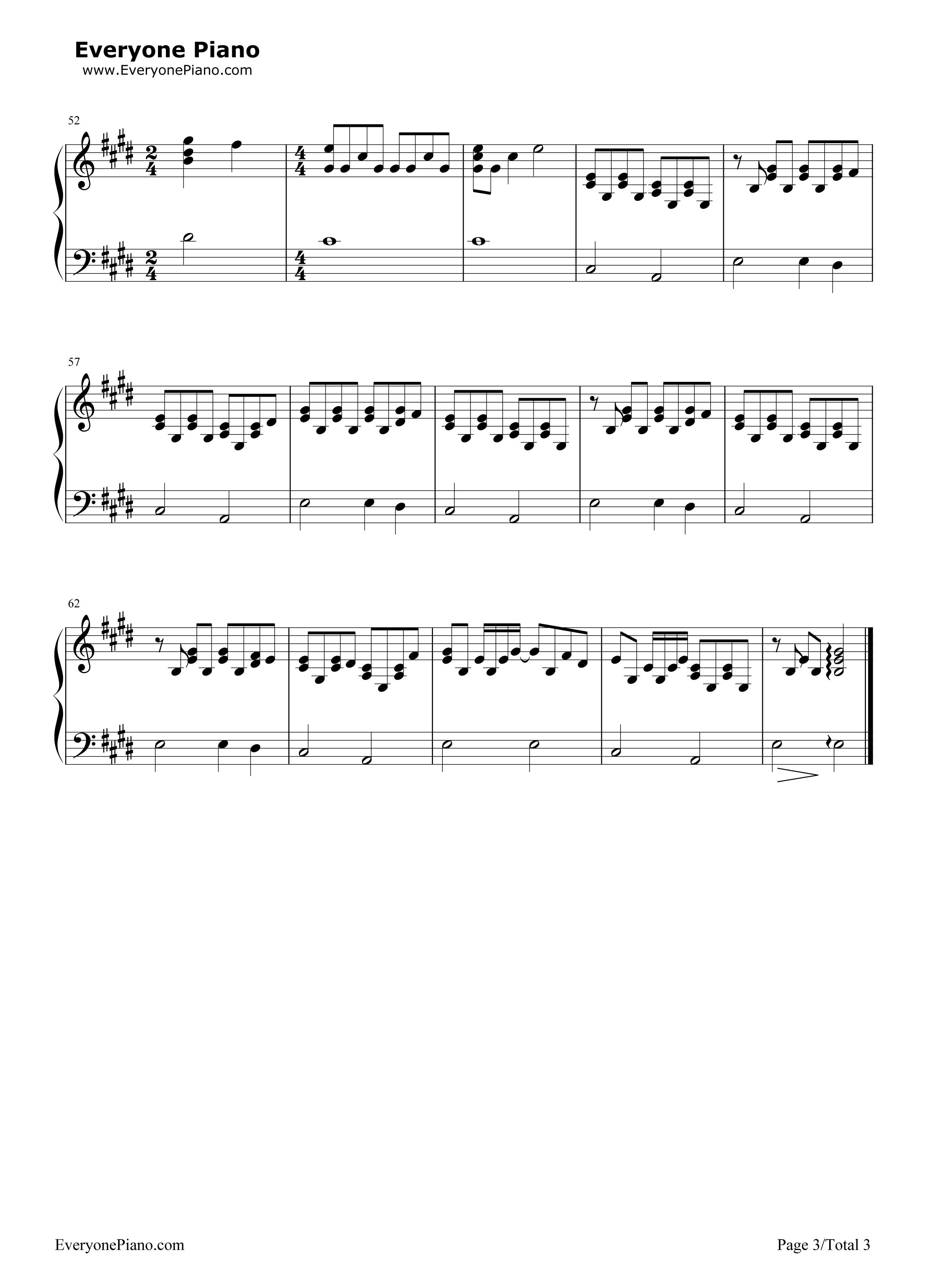 skinnylove钢琴简谱