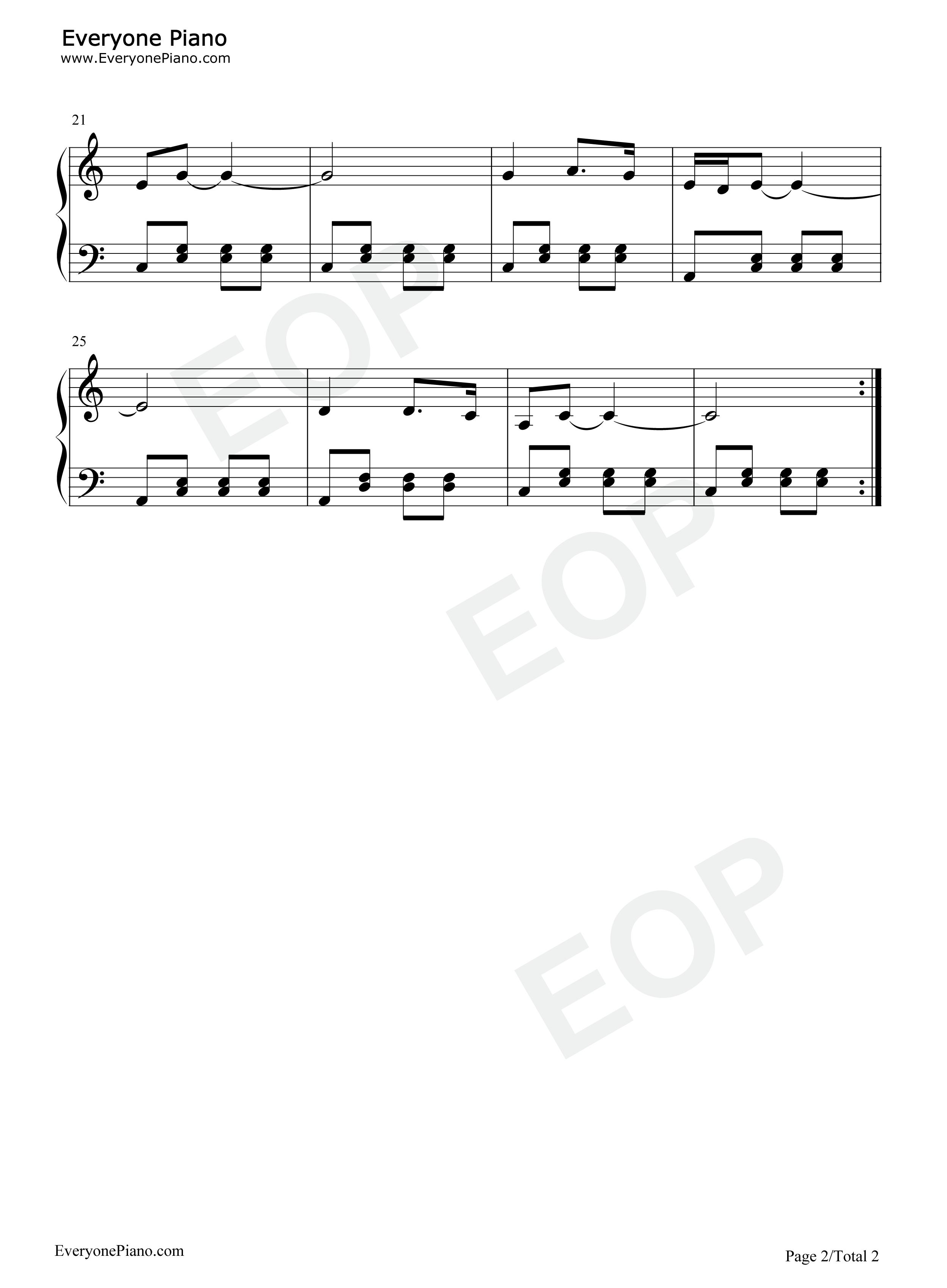 钢琴曲谱 儿歌 小螺号-程琳 小螺号-程琳五线谱预览2