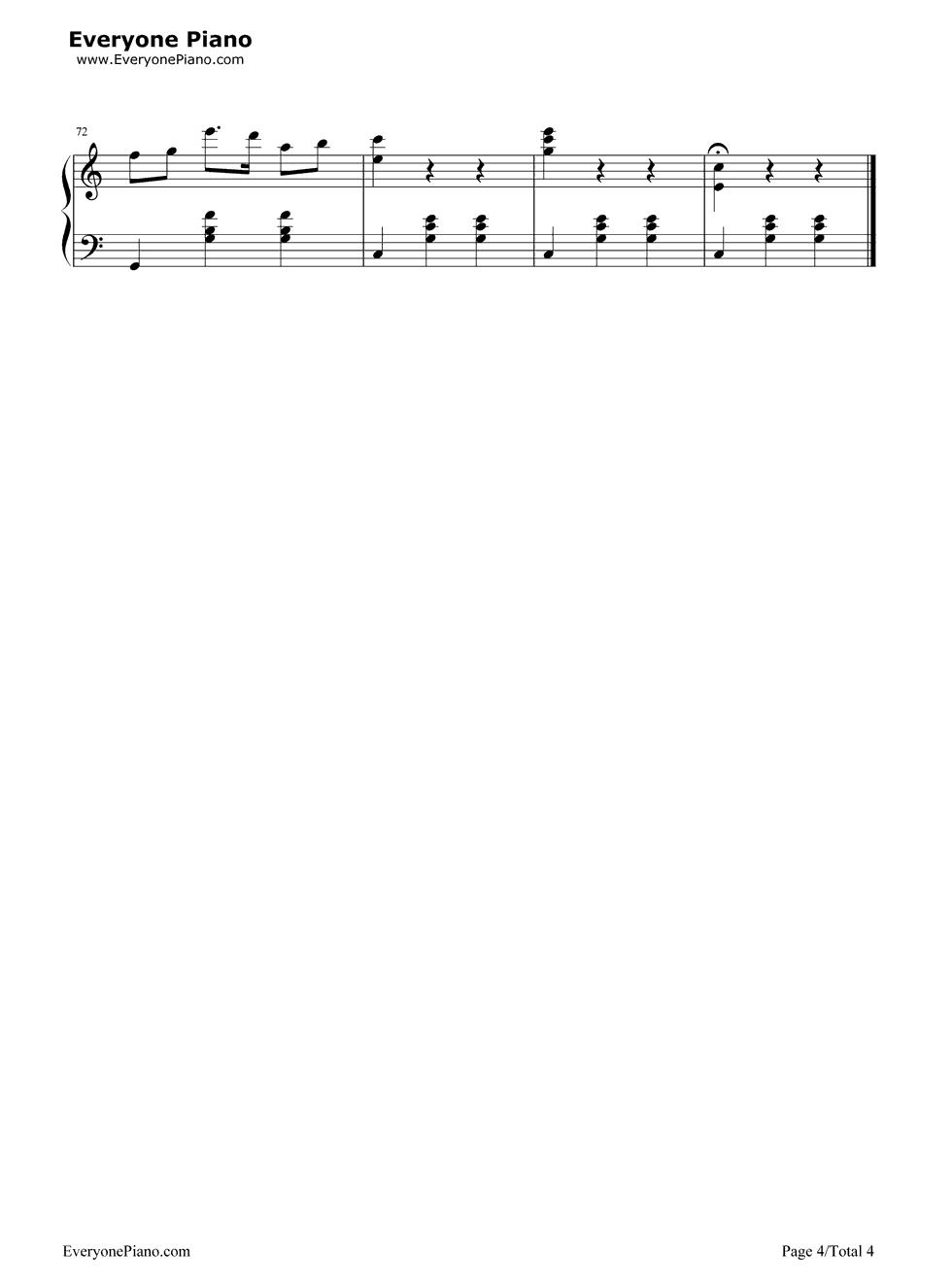 钢琴曲谱 练习曲 牧歌-卡尔海因斯 牧歌-卡尔海因斯五线谱预览4  }