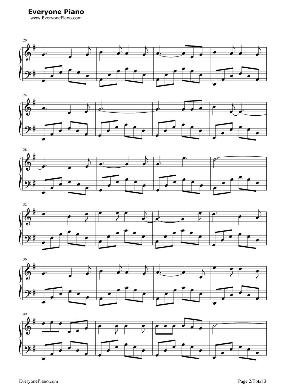 再回首-苏芮五线谱预览2-钢琴谱档(五线谱,双手简谱