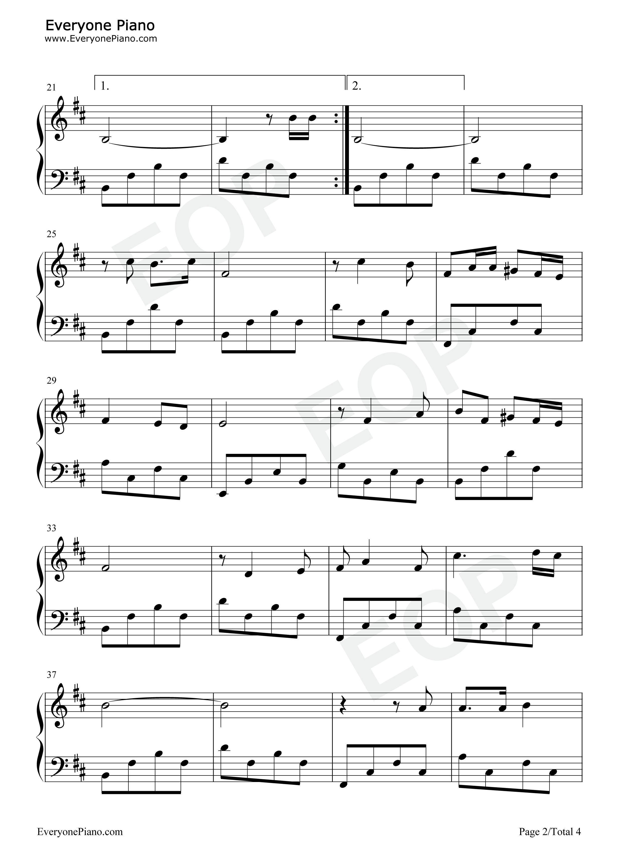 橄榄树-齐豫五线谱预览2-钢琴谱