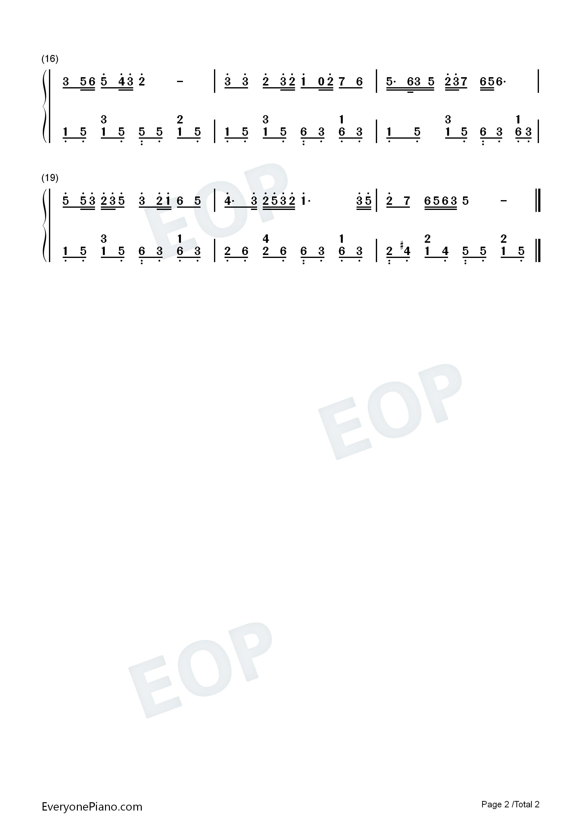 红梅赞-江姐主题曲-阎肃双手简谱预览2
